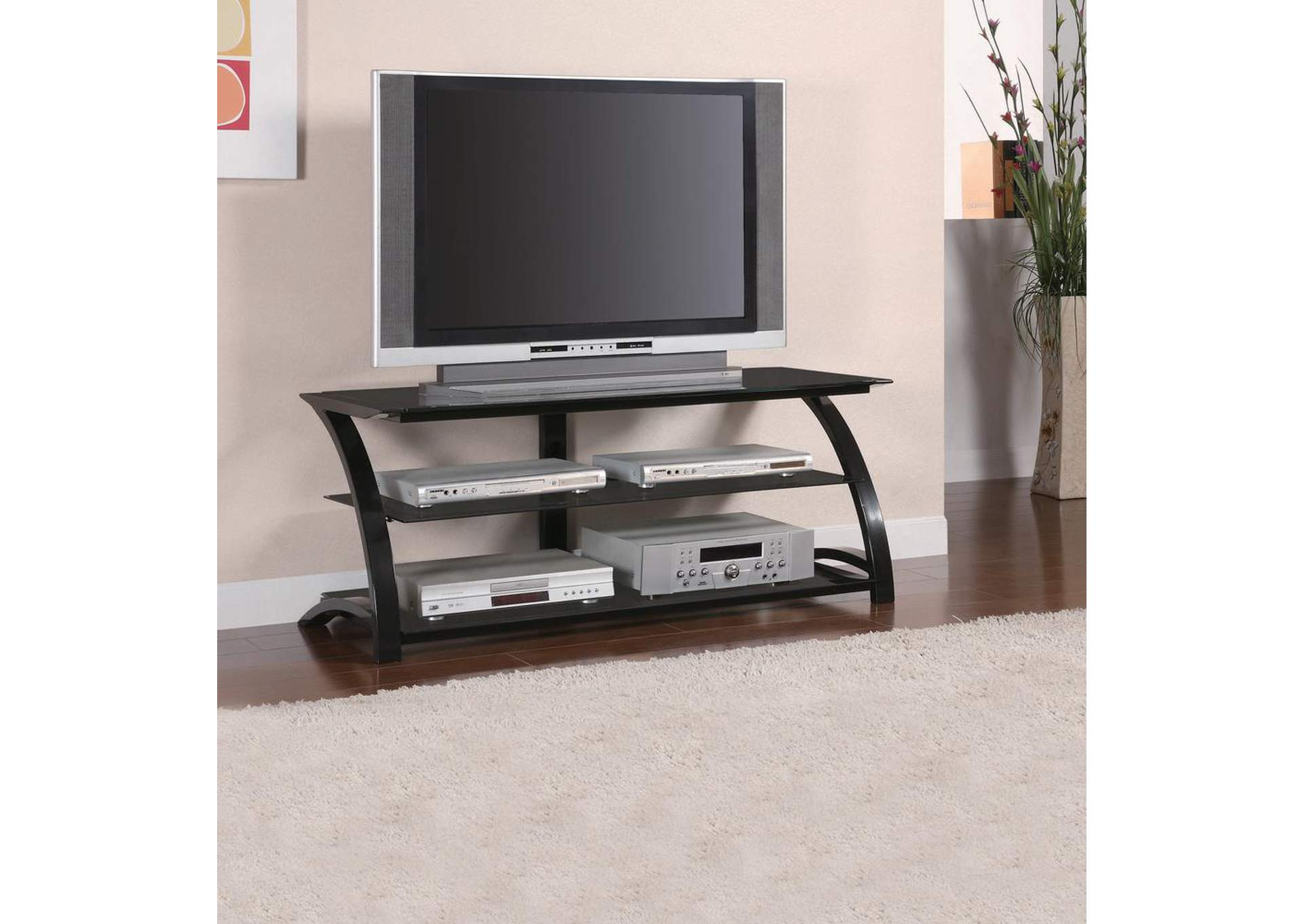Black Metal TV Console,Coaster Furniture