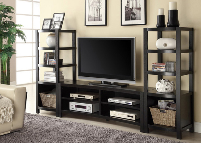 TV Stand w/2 Media Towers,Coaster Furniture