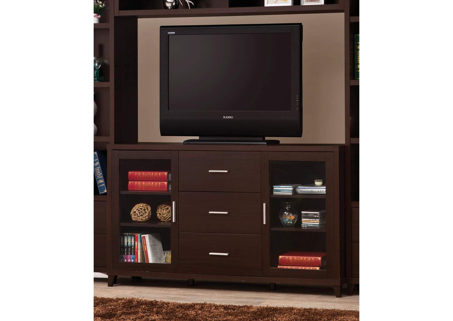 Cappuccino TV Console,Coaster Furniture