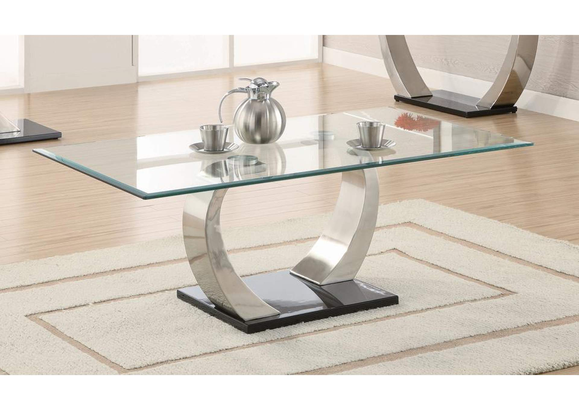 Satin Plated Coffee Table,Coaster Furniture
