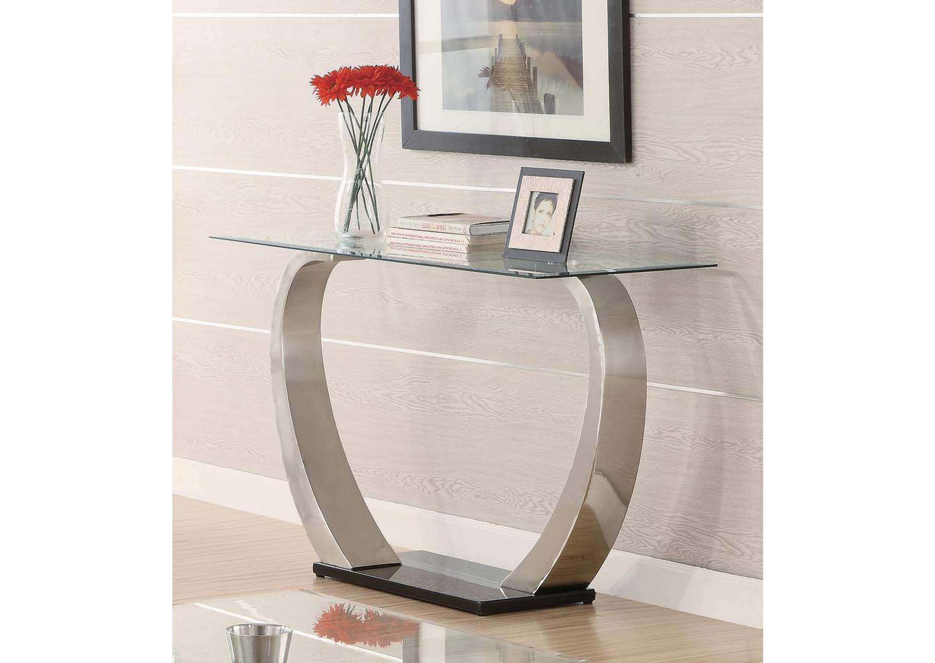 Satin Plated Sofa Table,Coaster Furniture