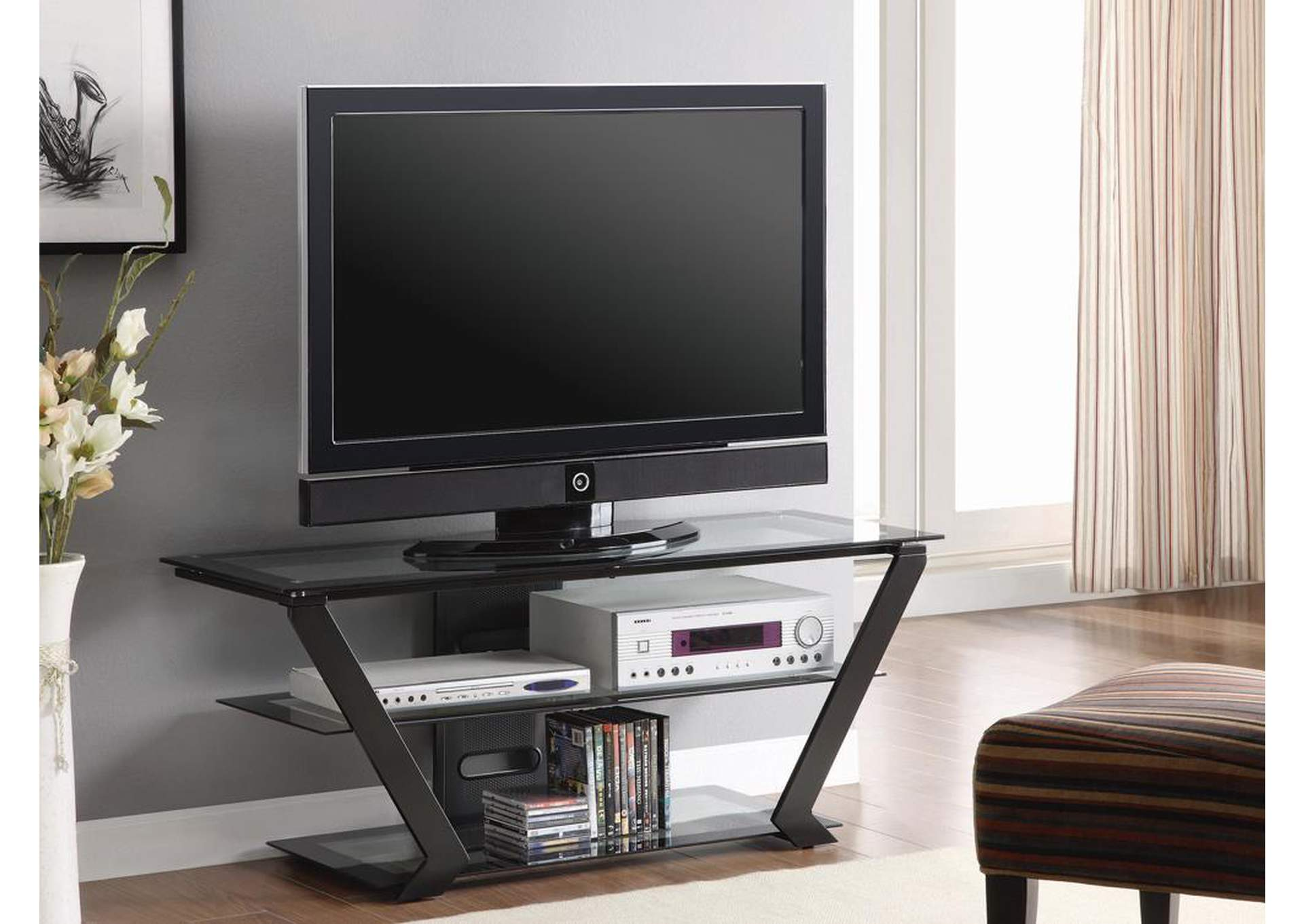 Black TV Console,Coaster Furniture