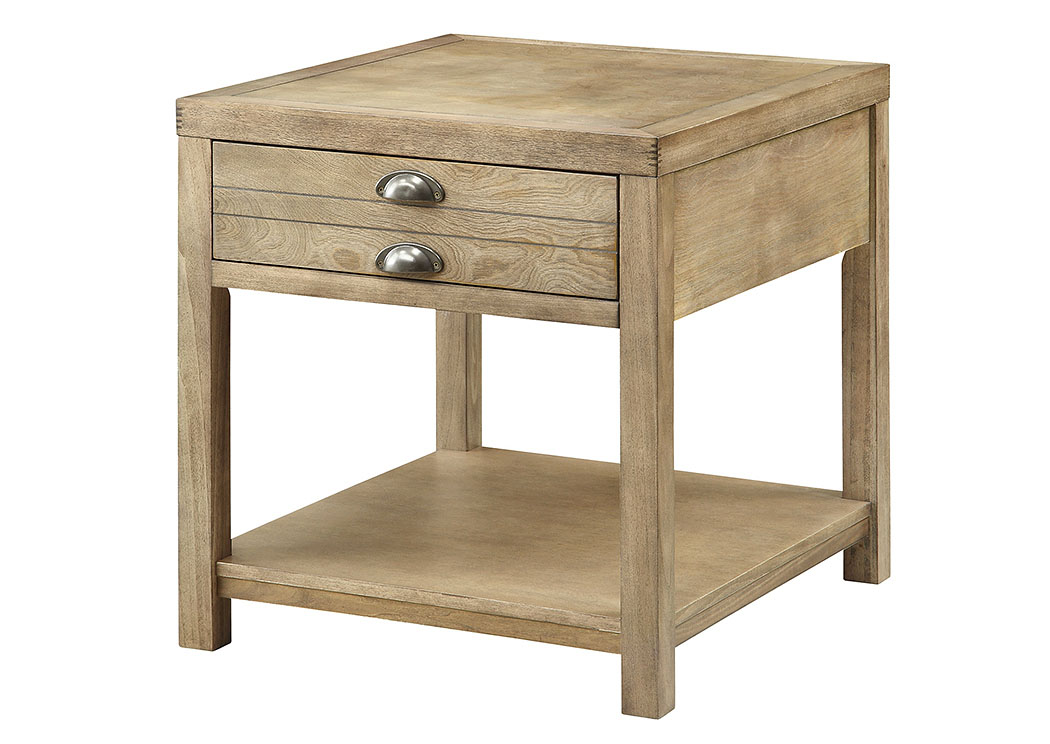 Merveilleux Light Oak End Table,Coaster Furniture