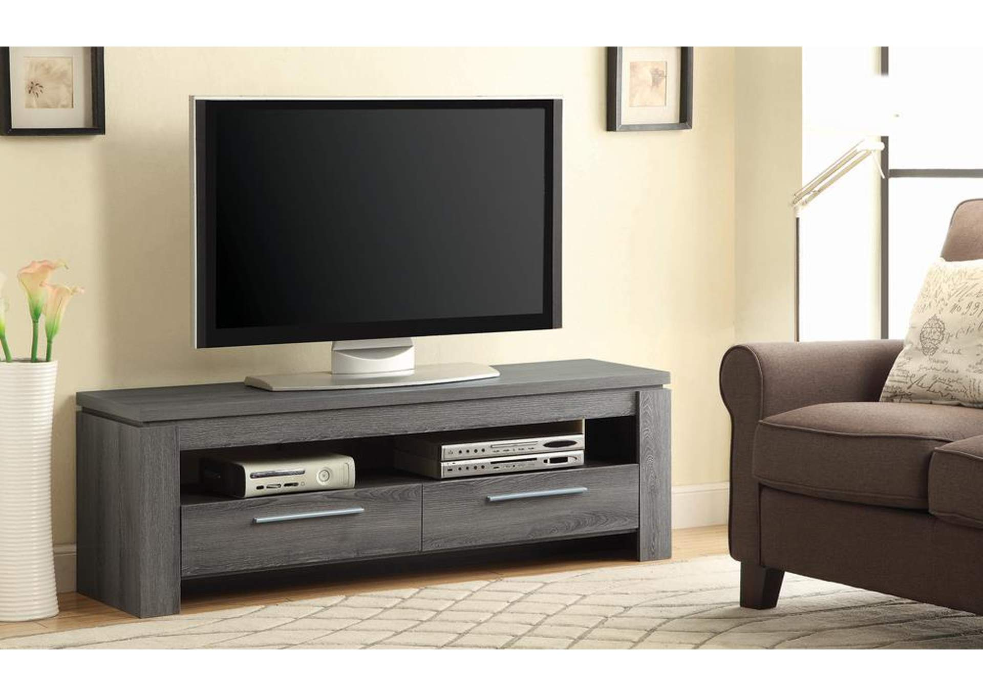 Dark Grey TV Console,Coaster Furniture