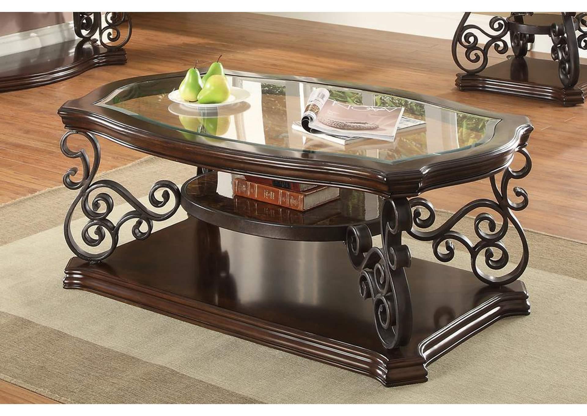 Compass Furniture Mahogany Coffee Table