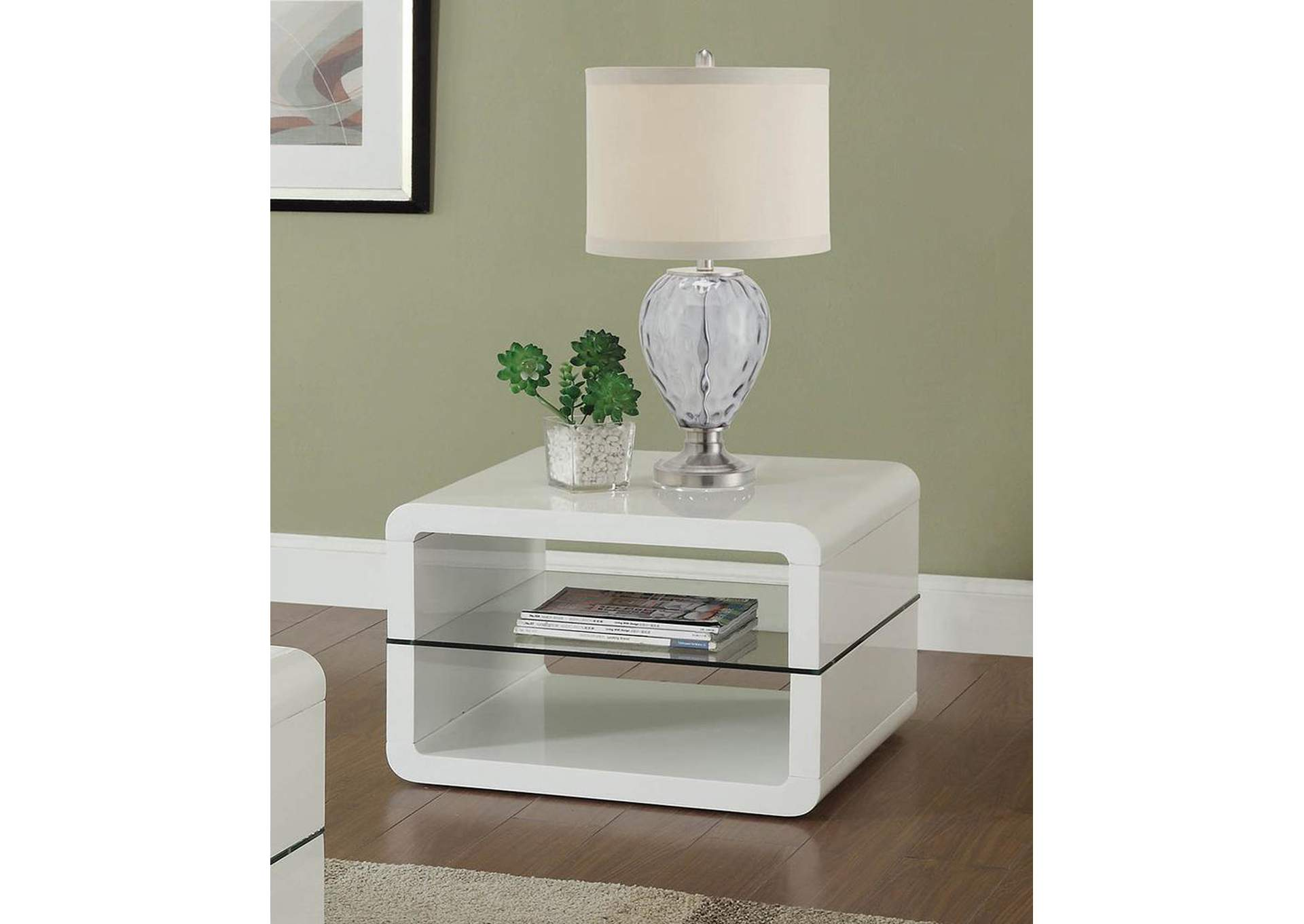White End Table,Coaster Furniture