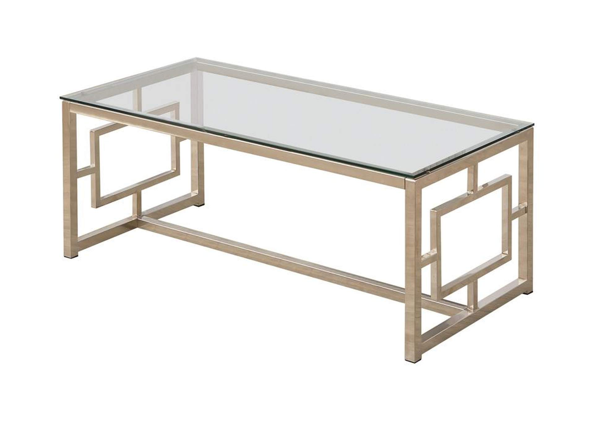 Alto Occasional Contemporary Nickel Coffee Table,Coaster Furniture