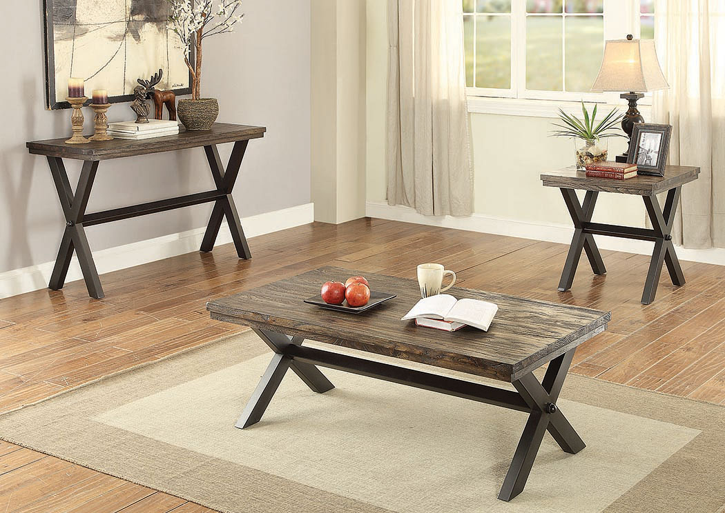 Weathered Grey End Table,Coaster Furniture