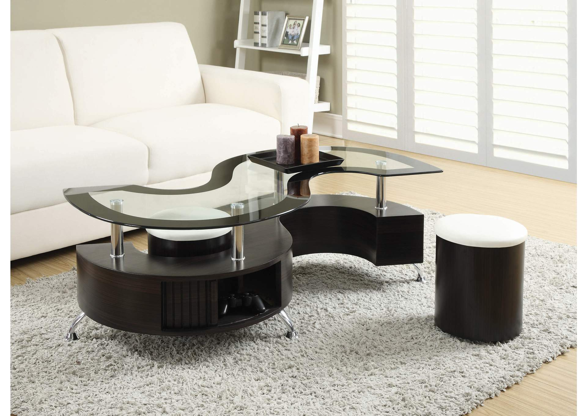 Delange White Coffee Table,Coaster Furniture