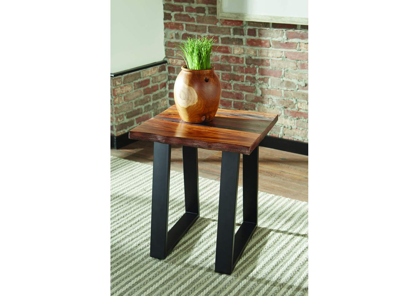 Grey Sheesham End Table,Coaster Furniture