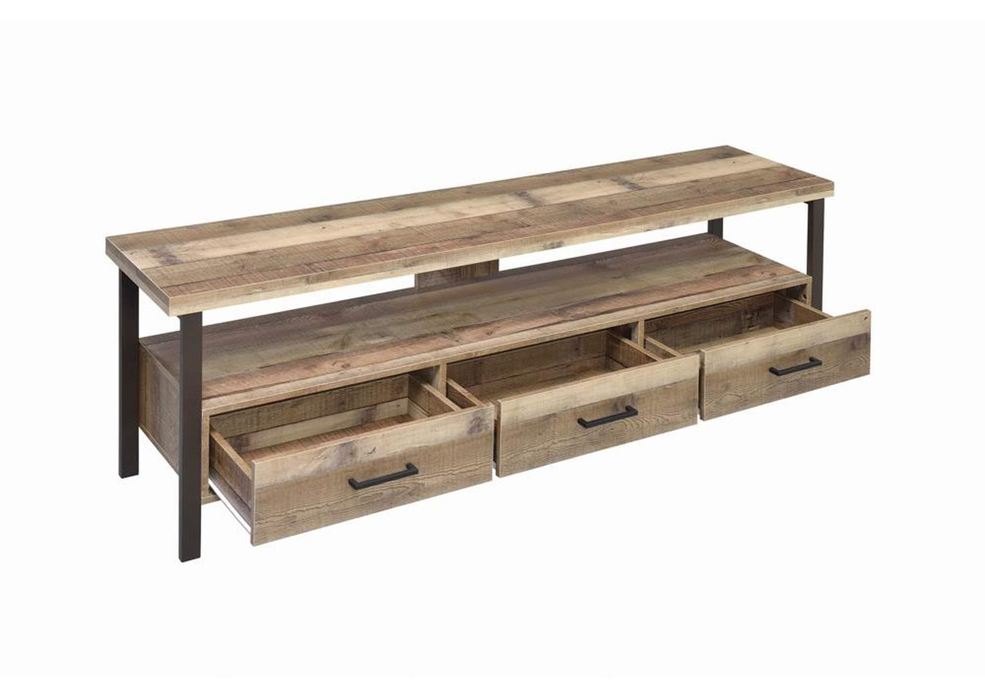 Weathered Pine 71 Inch Tv Console,Coaster Furniture