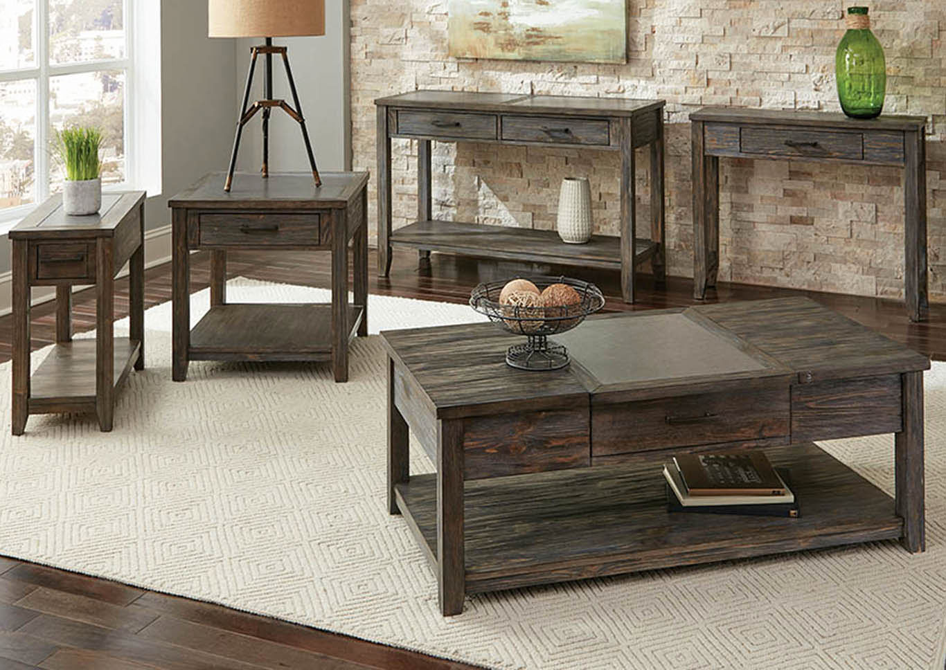 Rustic Nutmeg Coffee Table,Coaster Furniture