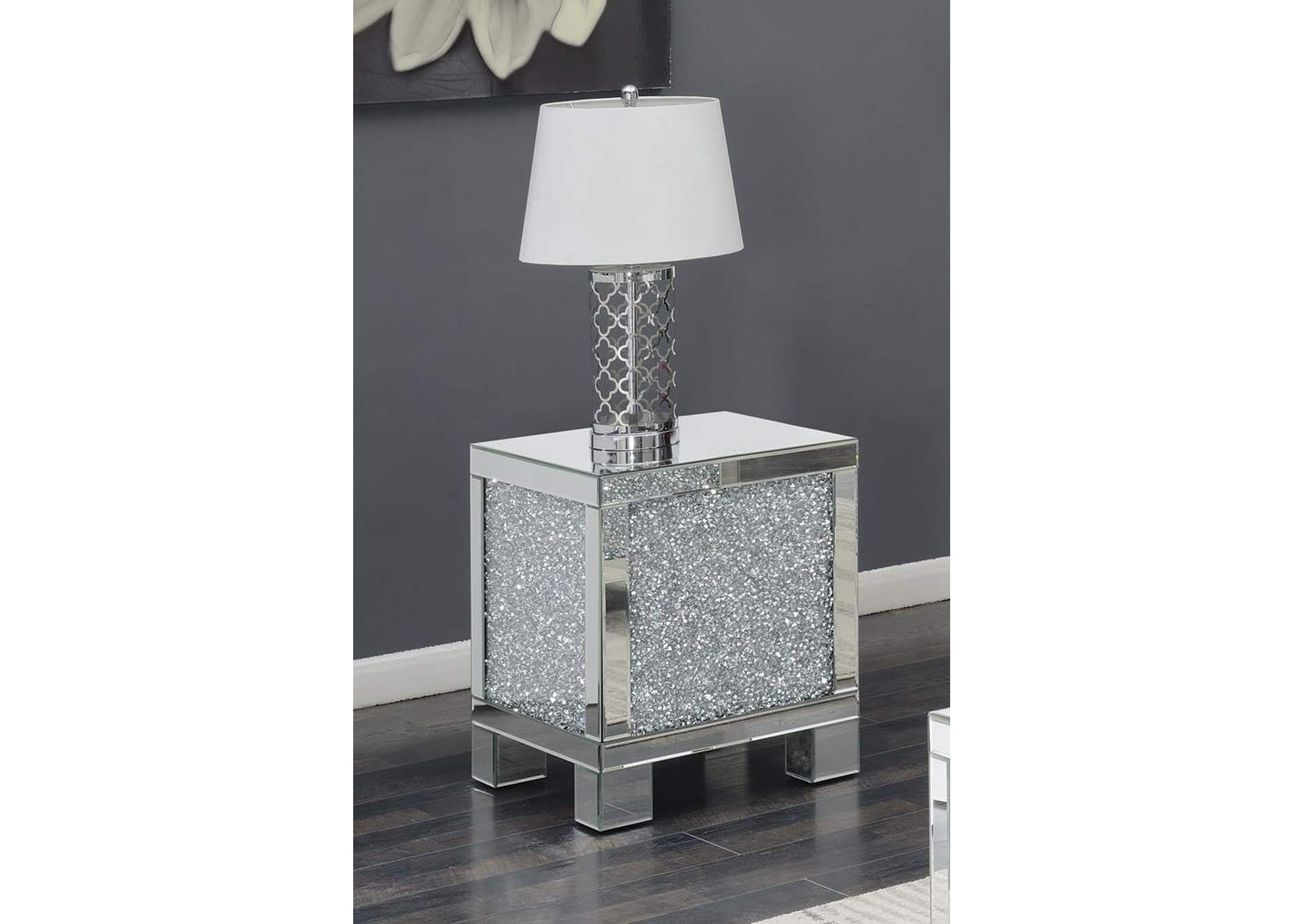 Silver Encrusted Crystal End Table,Coaster Furniture