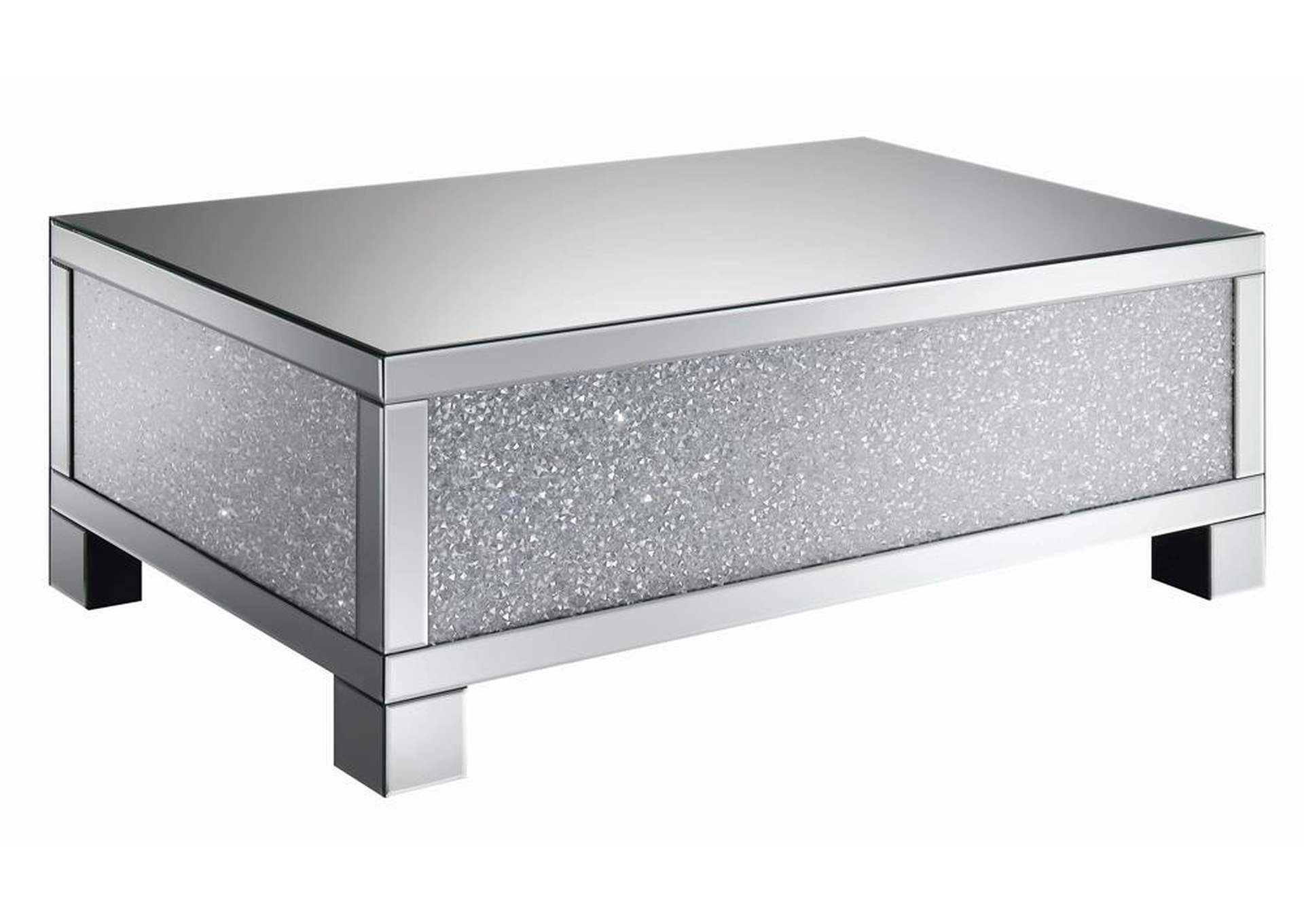 Silver Encrusted Crystal Coffee Table,Coaster Furniture