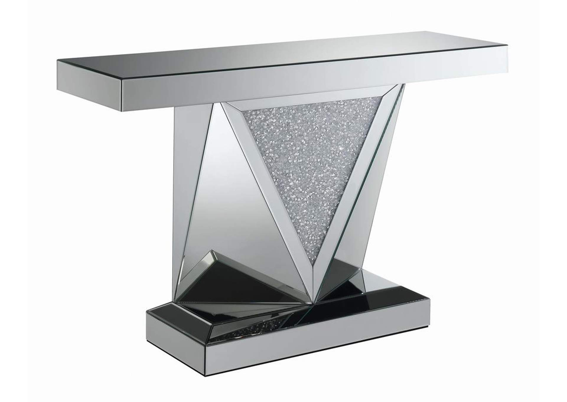 Silver Encrusted Crystal Sofa Table,Coaster Furniture