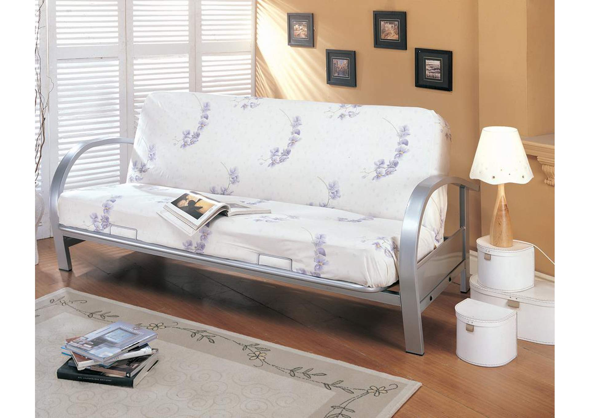 Silver Futon Frame,Coaster Furniture