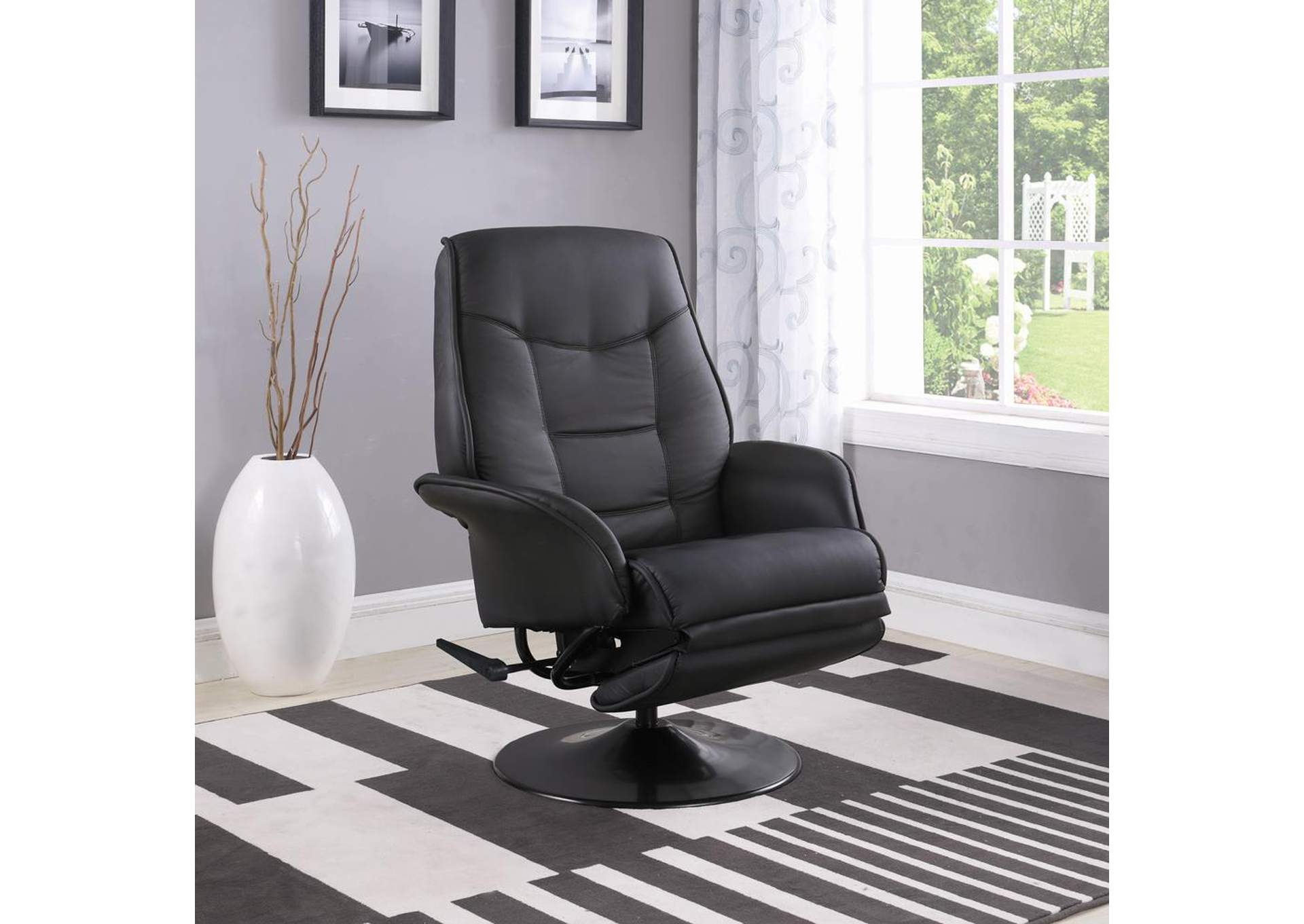 Berri Black Swivel Recliner,Coaster Furniture