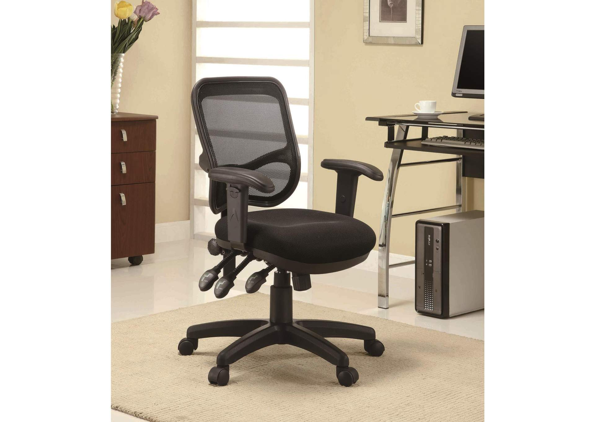 Black Transitional Black Office Chair,Coaster Furniture