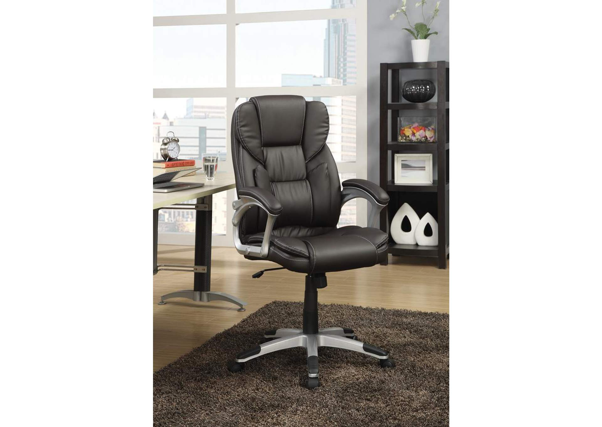 Dark Brown Office Chair,Coaster Furniture