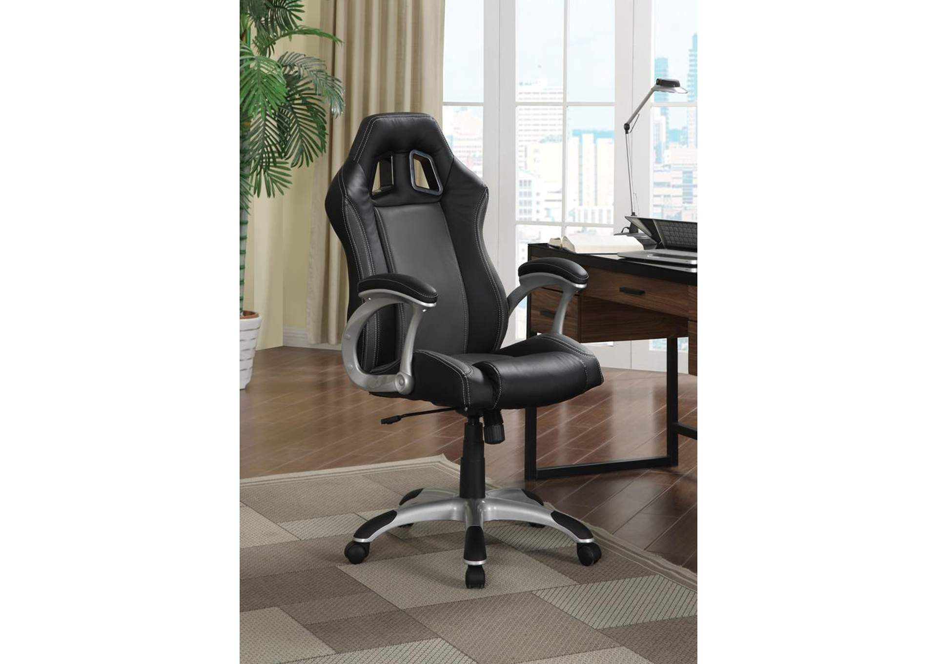 Black/ Grey Office Chair,Coaster Furniture