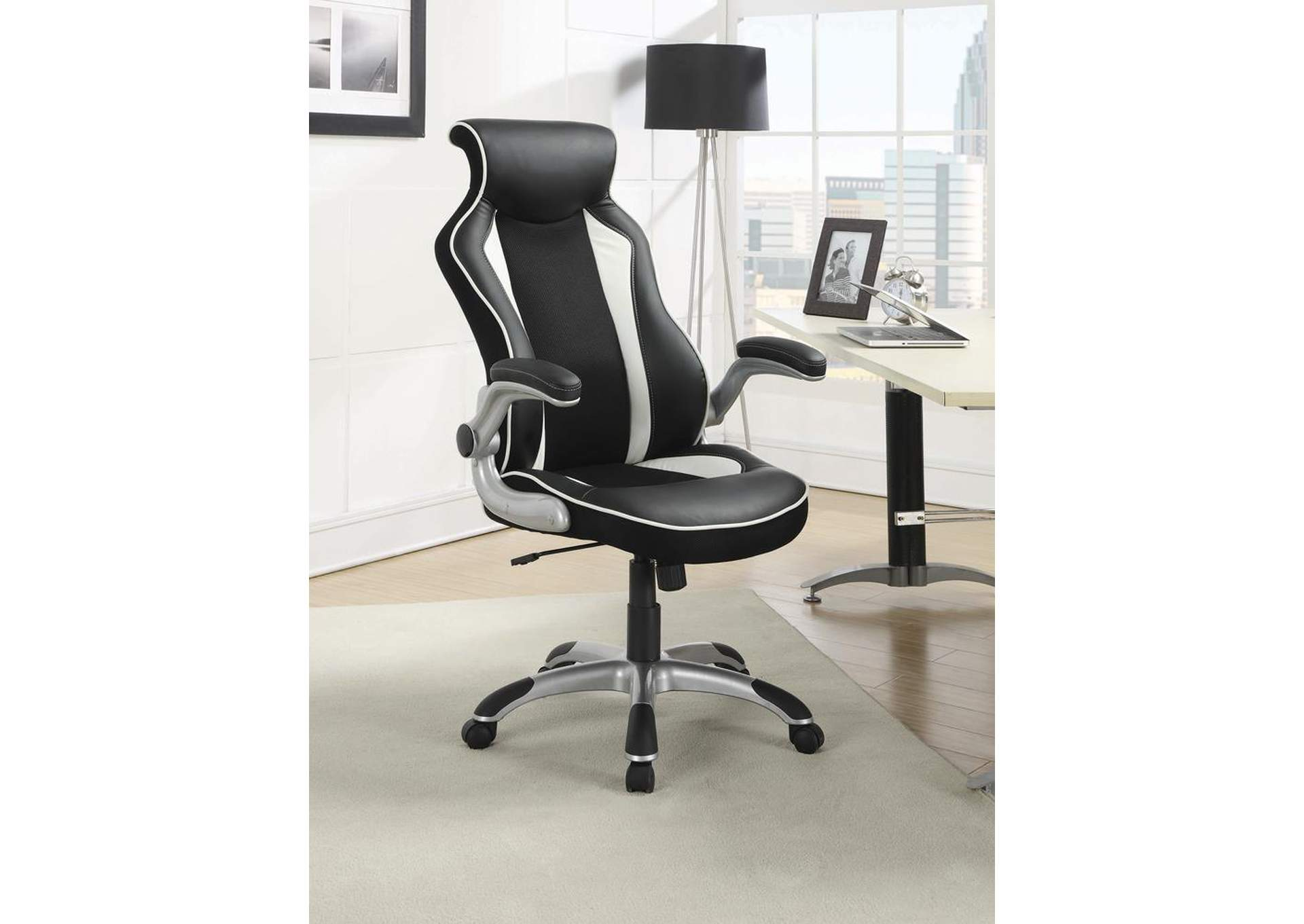 Black/ White Office Chair,Coaster Furniture