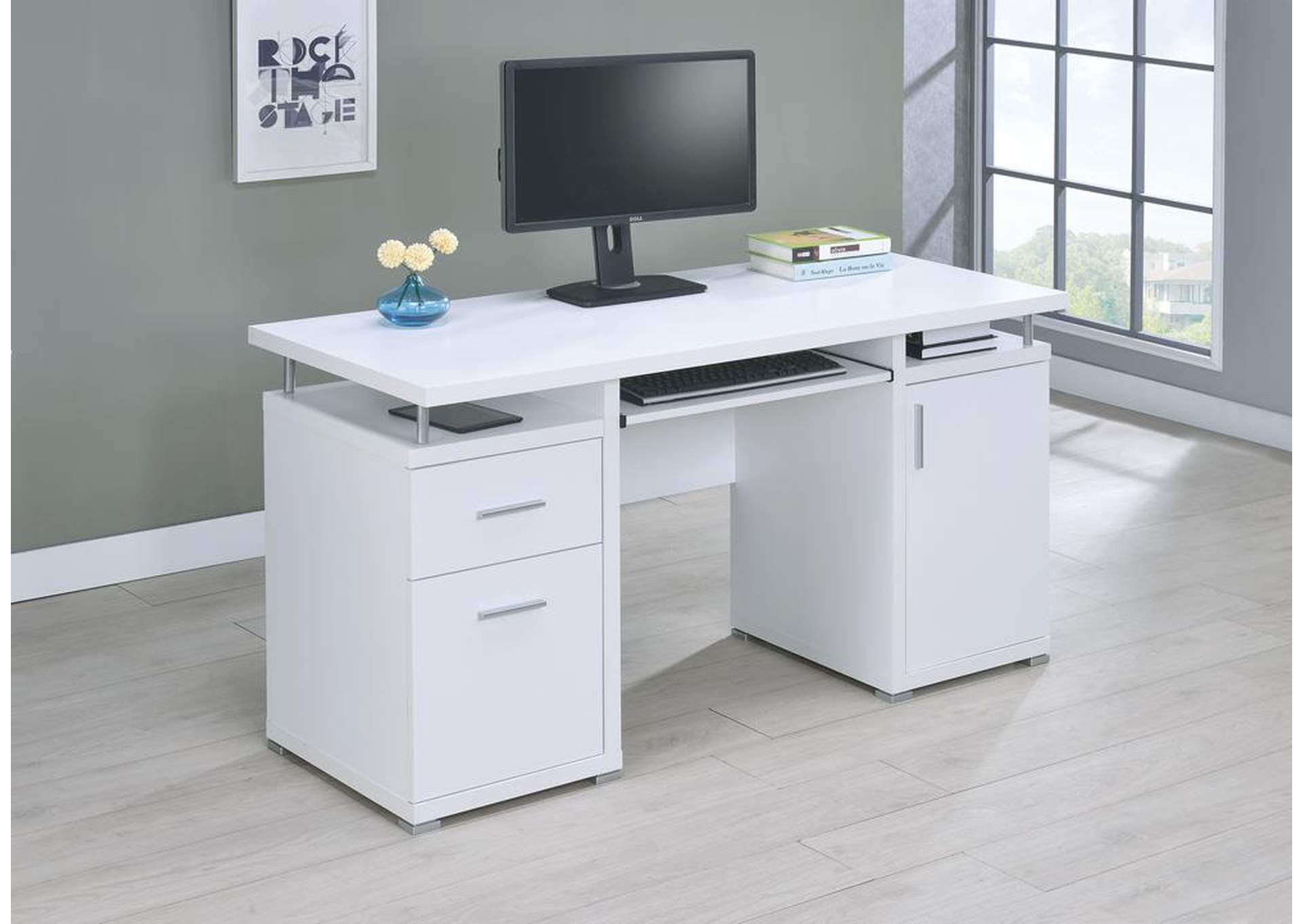 White Computer Desk,Coaster Furniture