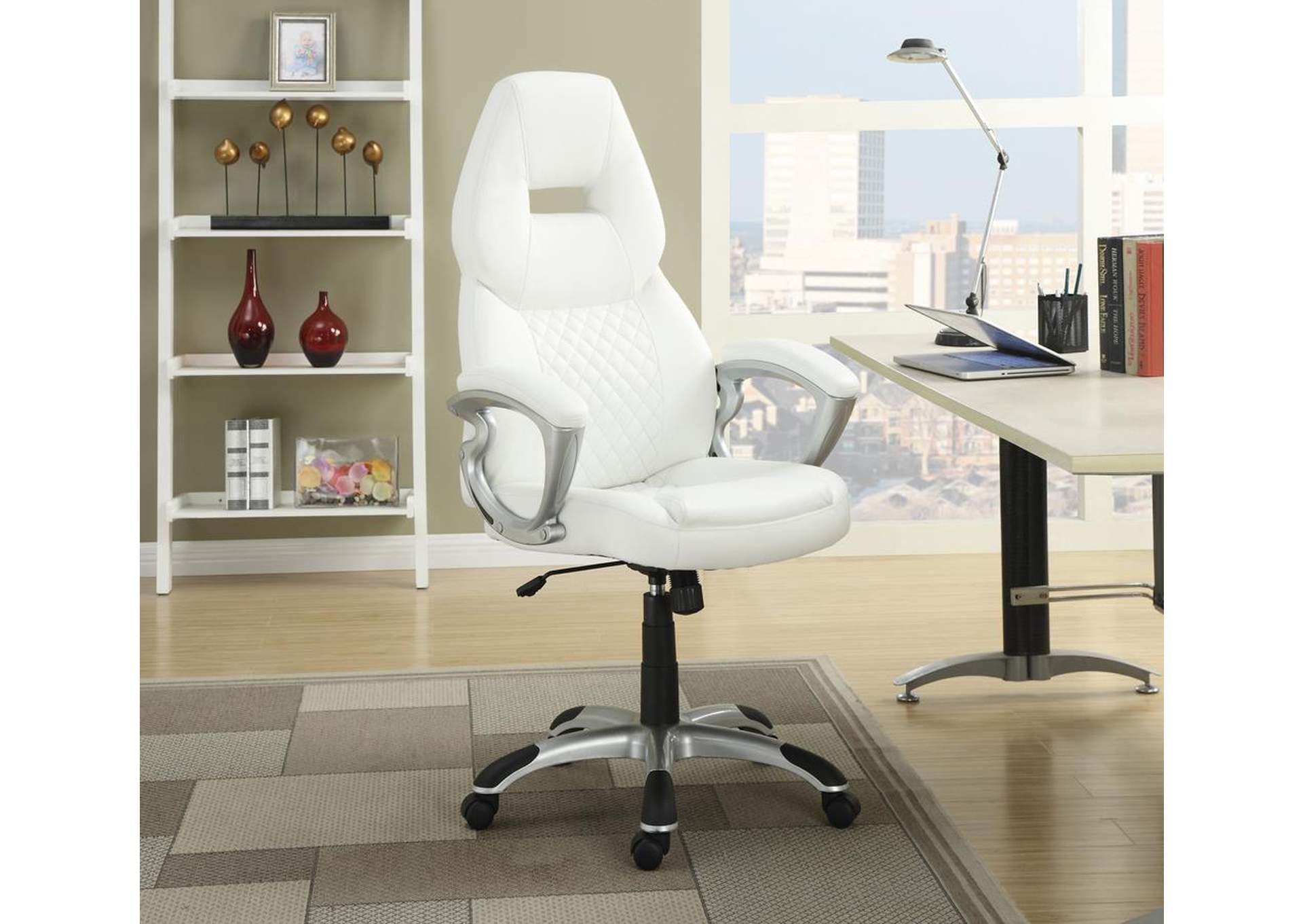 White & White Office Chair,Coaster Furniture