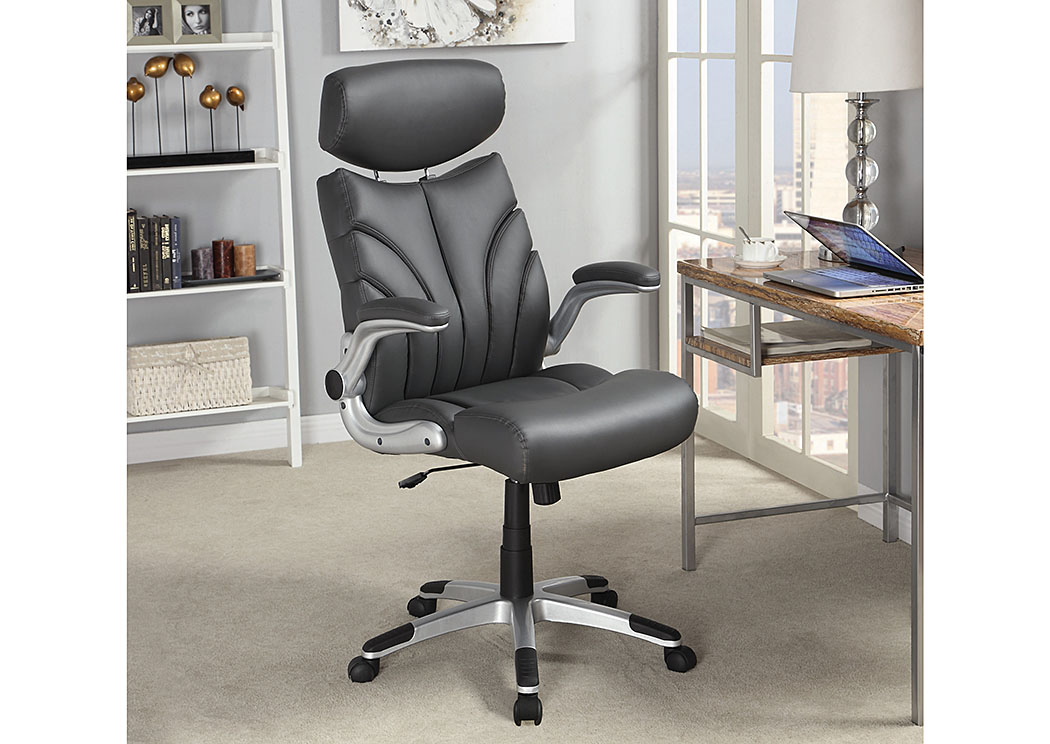 Grey & Grey Office Chair,Coaster Furniture