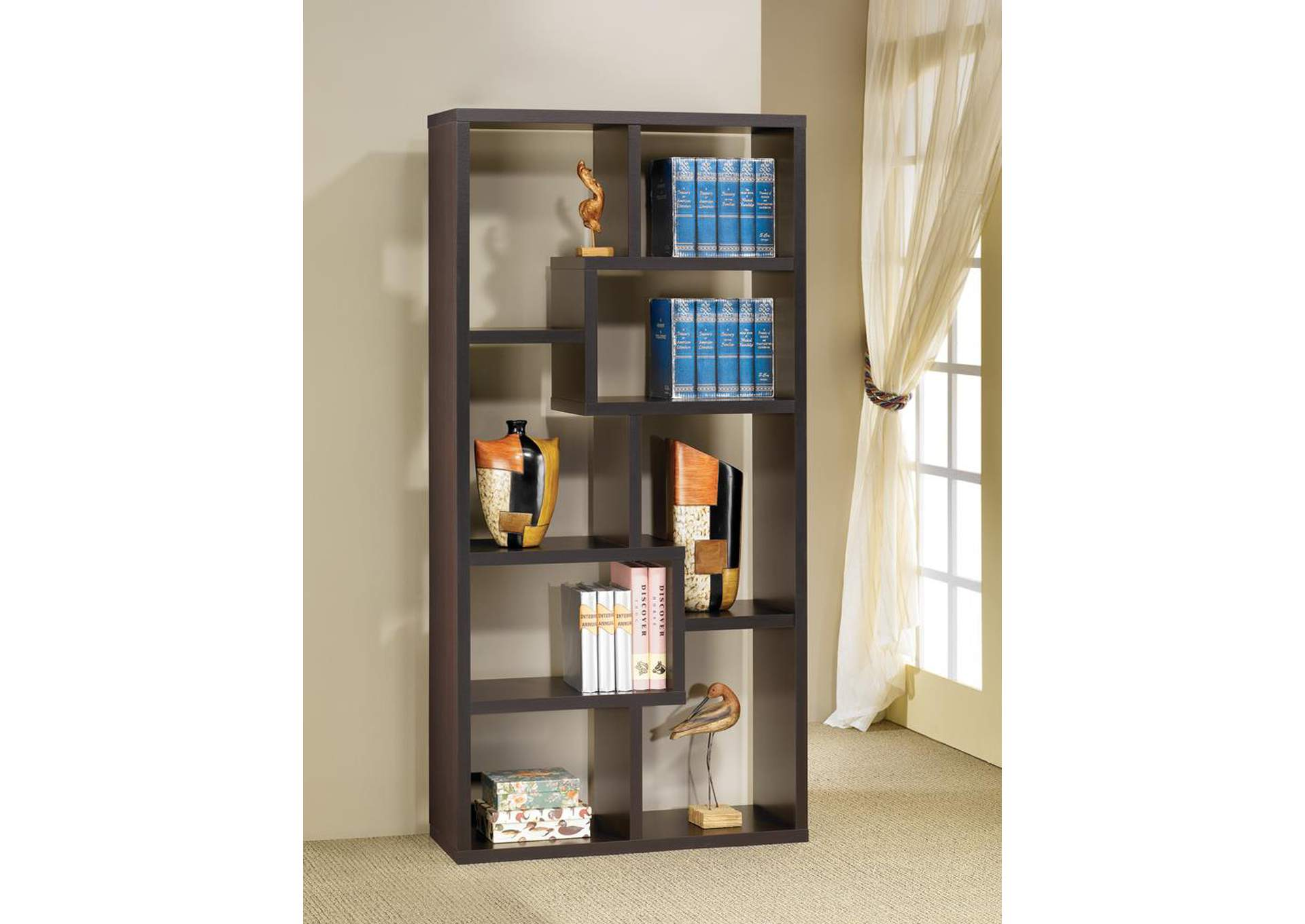 Cappuccino Bookcase,Coaster Furniture