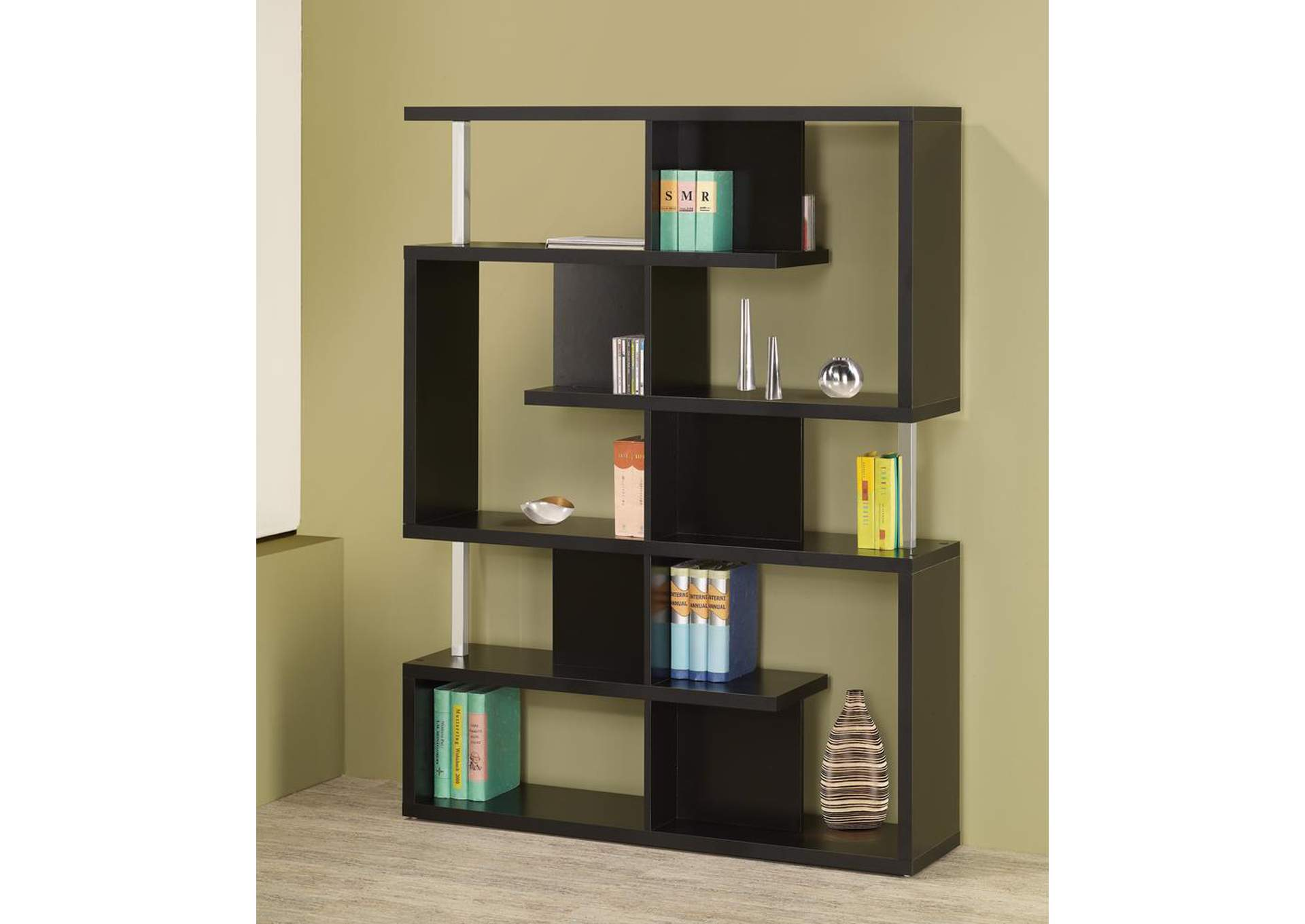 Black Bookcase,Coaster Furniture