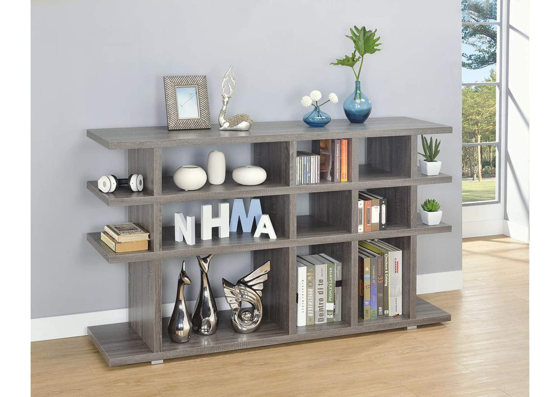 Weathered Grey Bookcase,Coaster Furniture