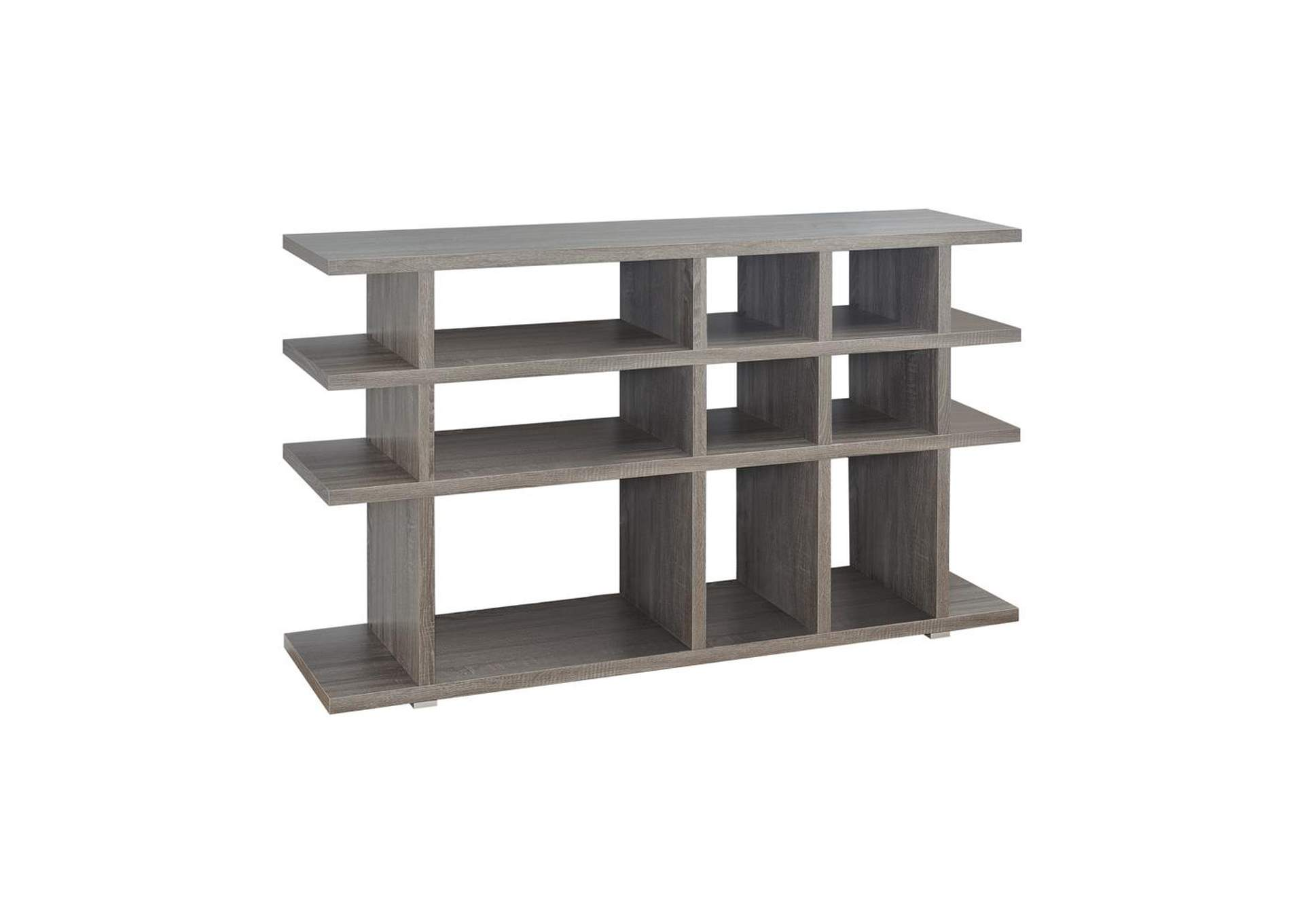 Weathered Grey Contemporary Weathered Grey Bookcase,Coaster Furniture