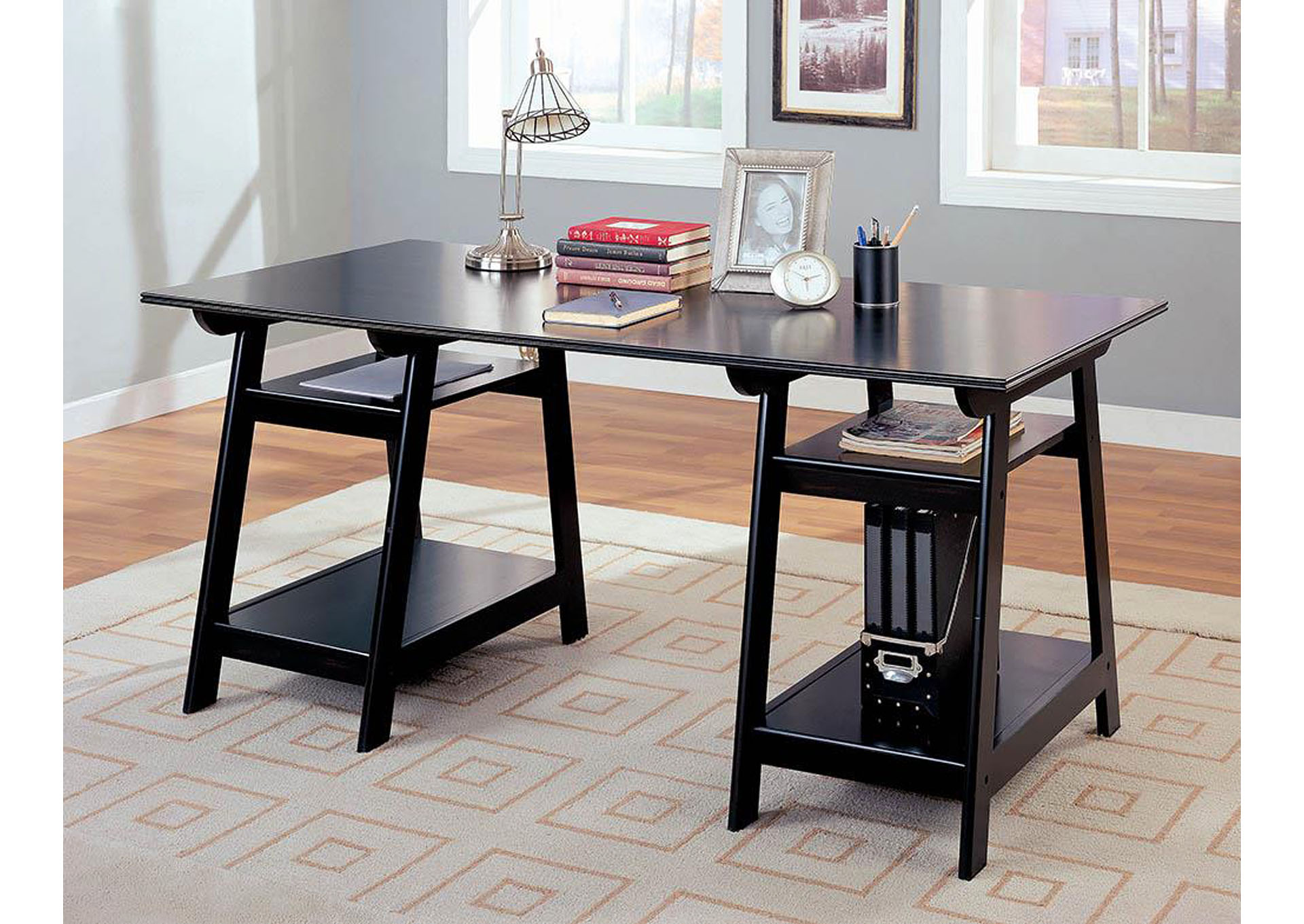 Black Writing Desk,Coaster Furniture
