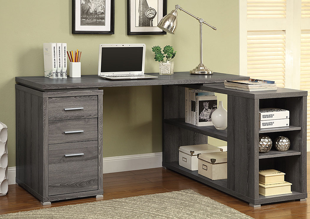 Oak Furniture Liquidators Dark Grey Computer Desk