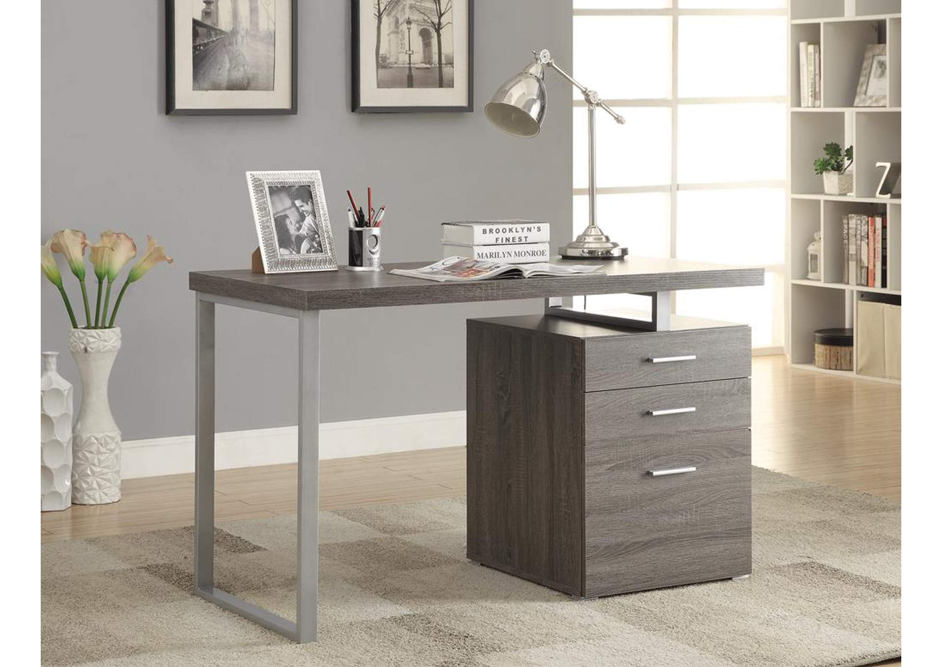 Weathered Grey Writing Desk,Coaster Furniture