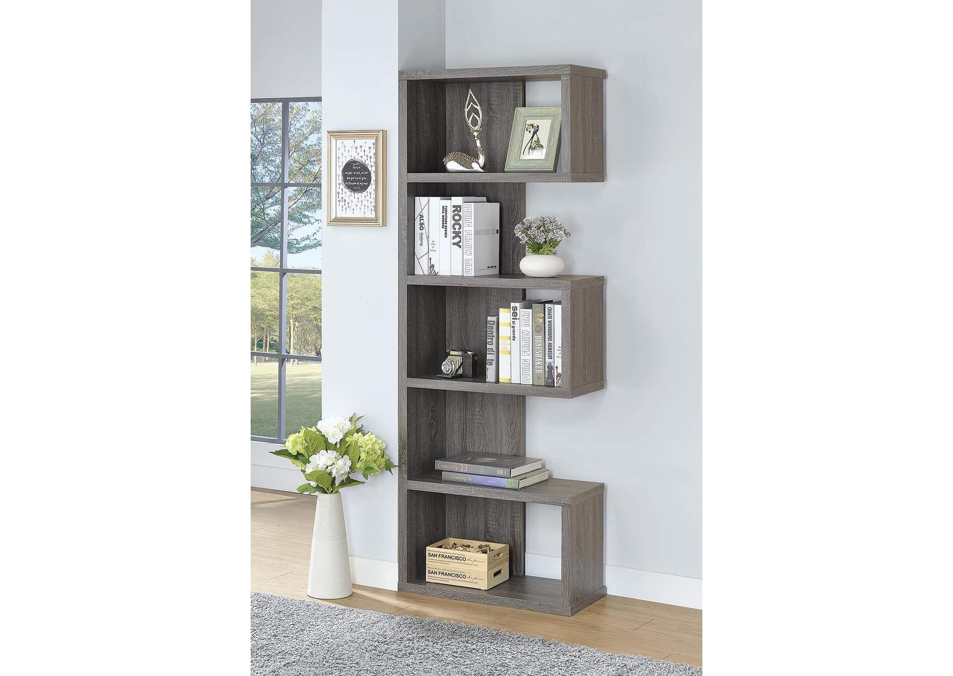 Dark Grey Bookshelf,Coaster Furniture