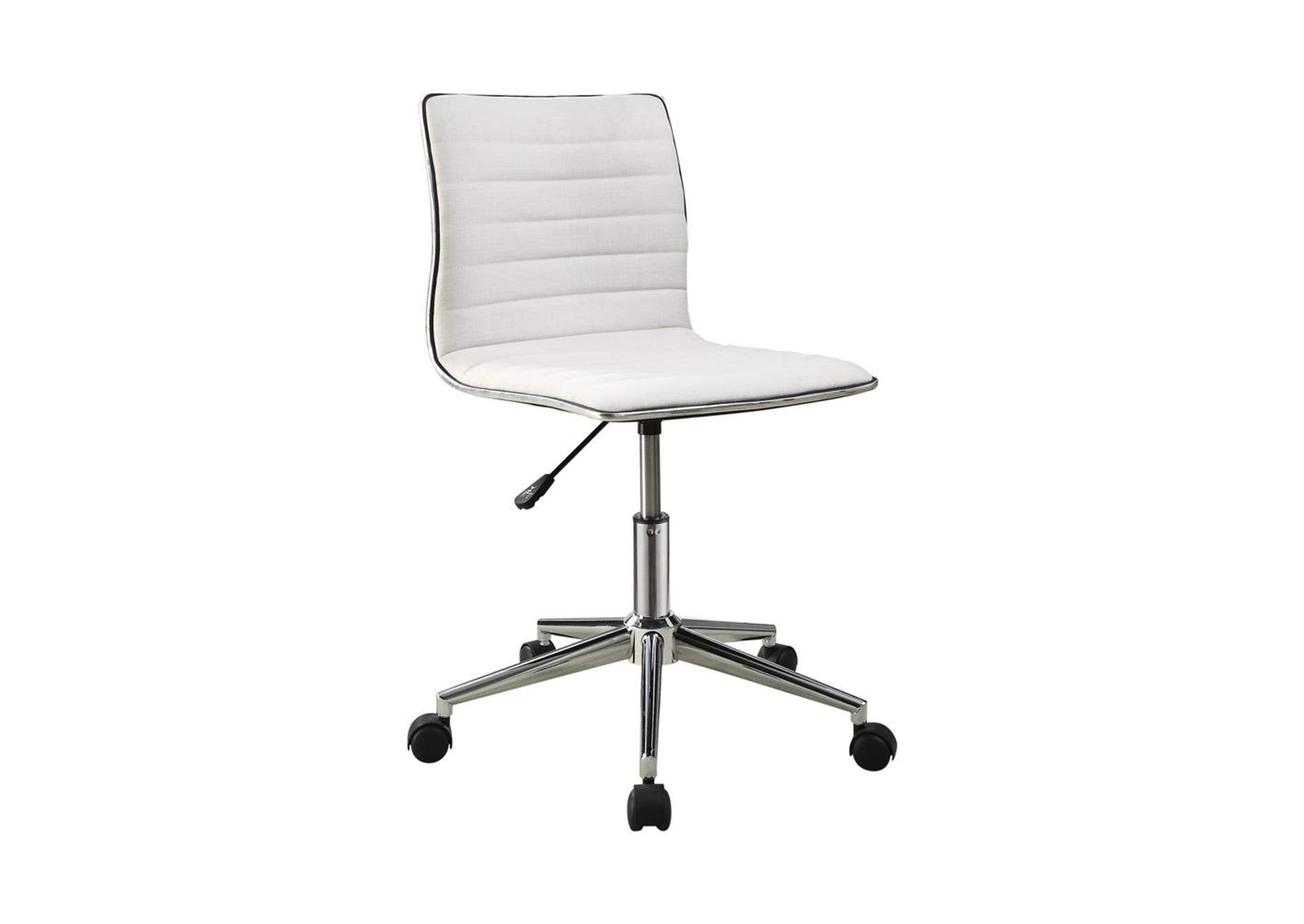 Alto Modern White And Chrome Home Office Chair Best Buy Furniture And Mattress