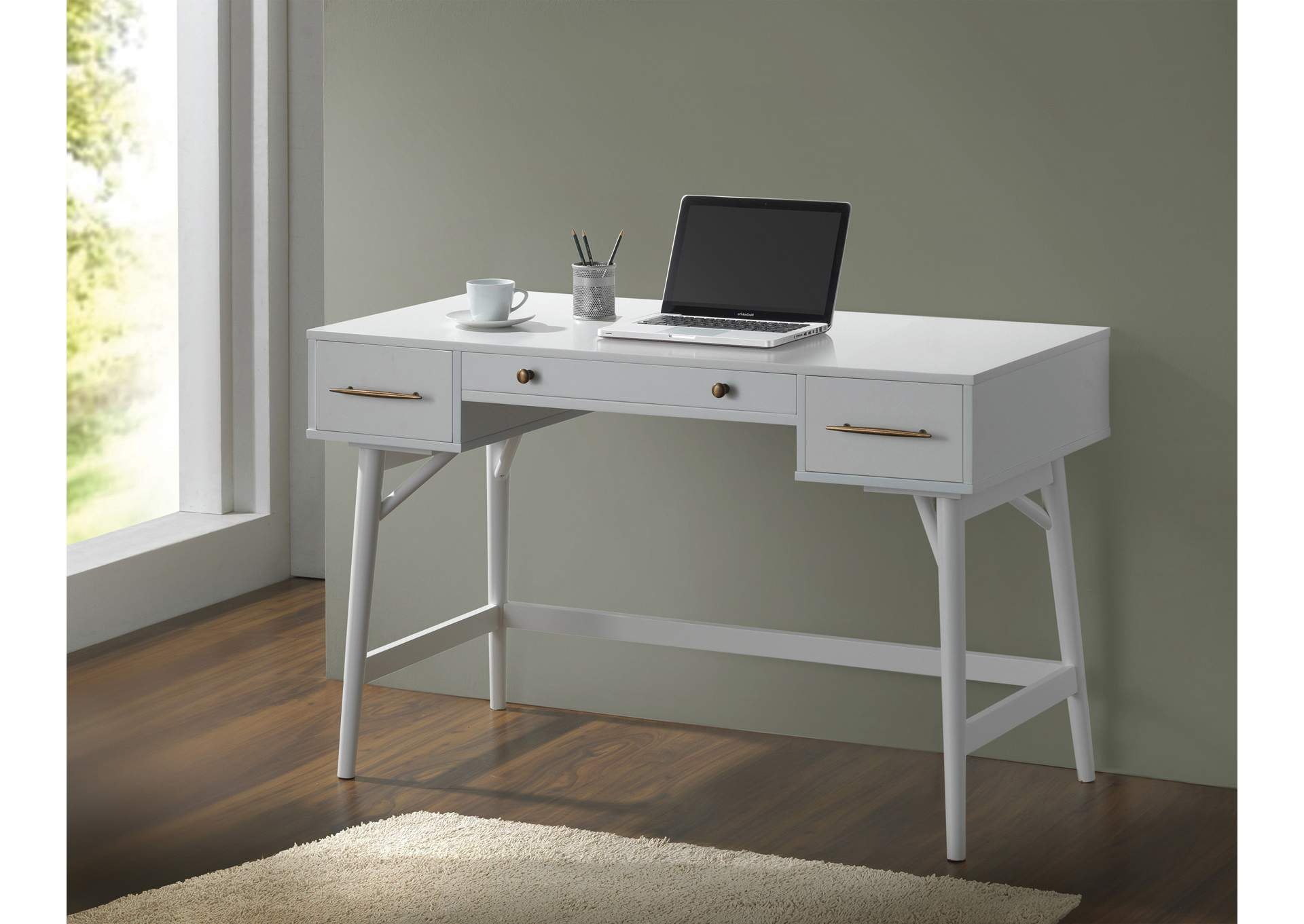 White Writing Desk,Coaster Furniture