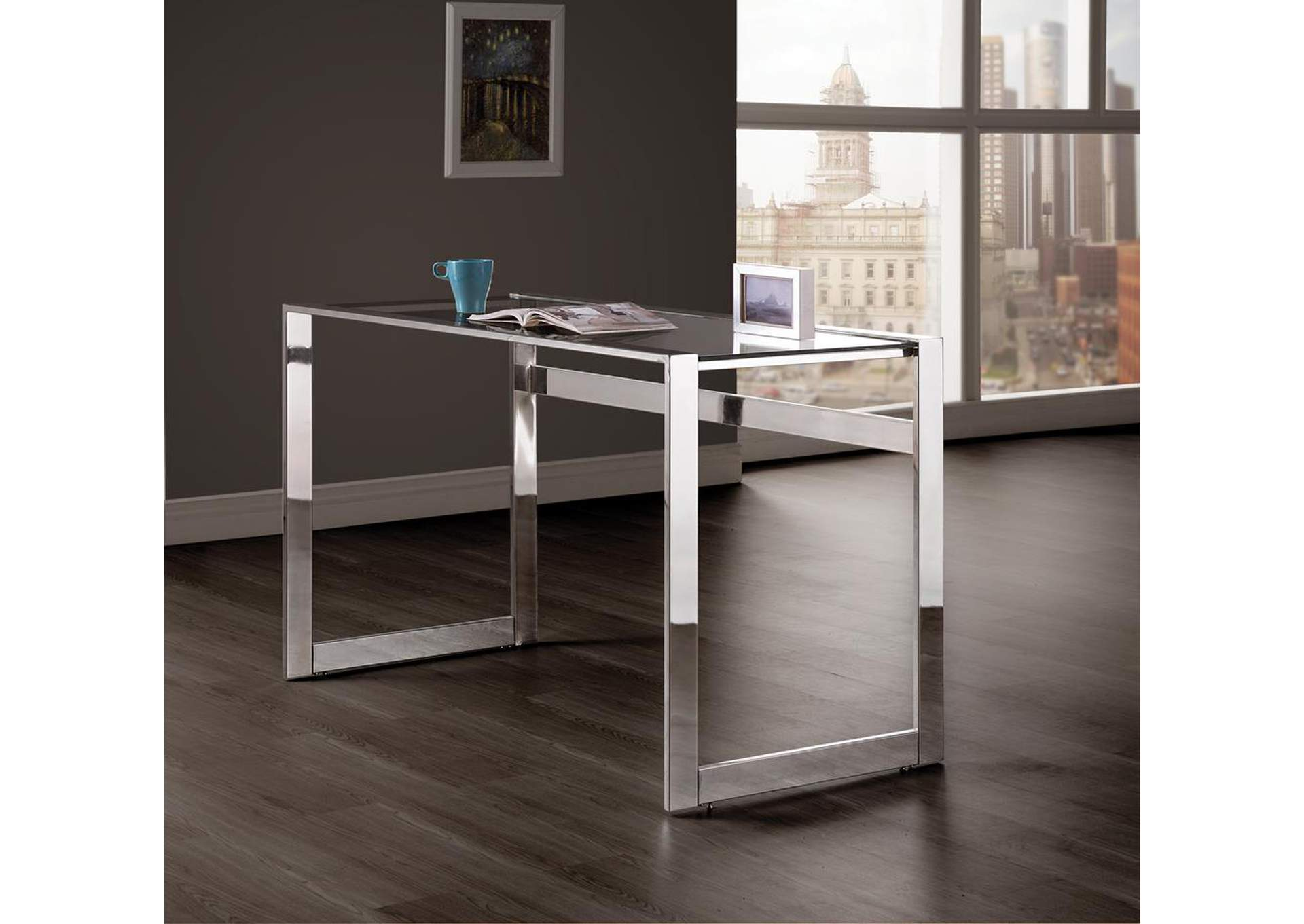 Glass Top Writing Desk,Coaster Furniture