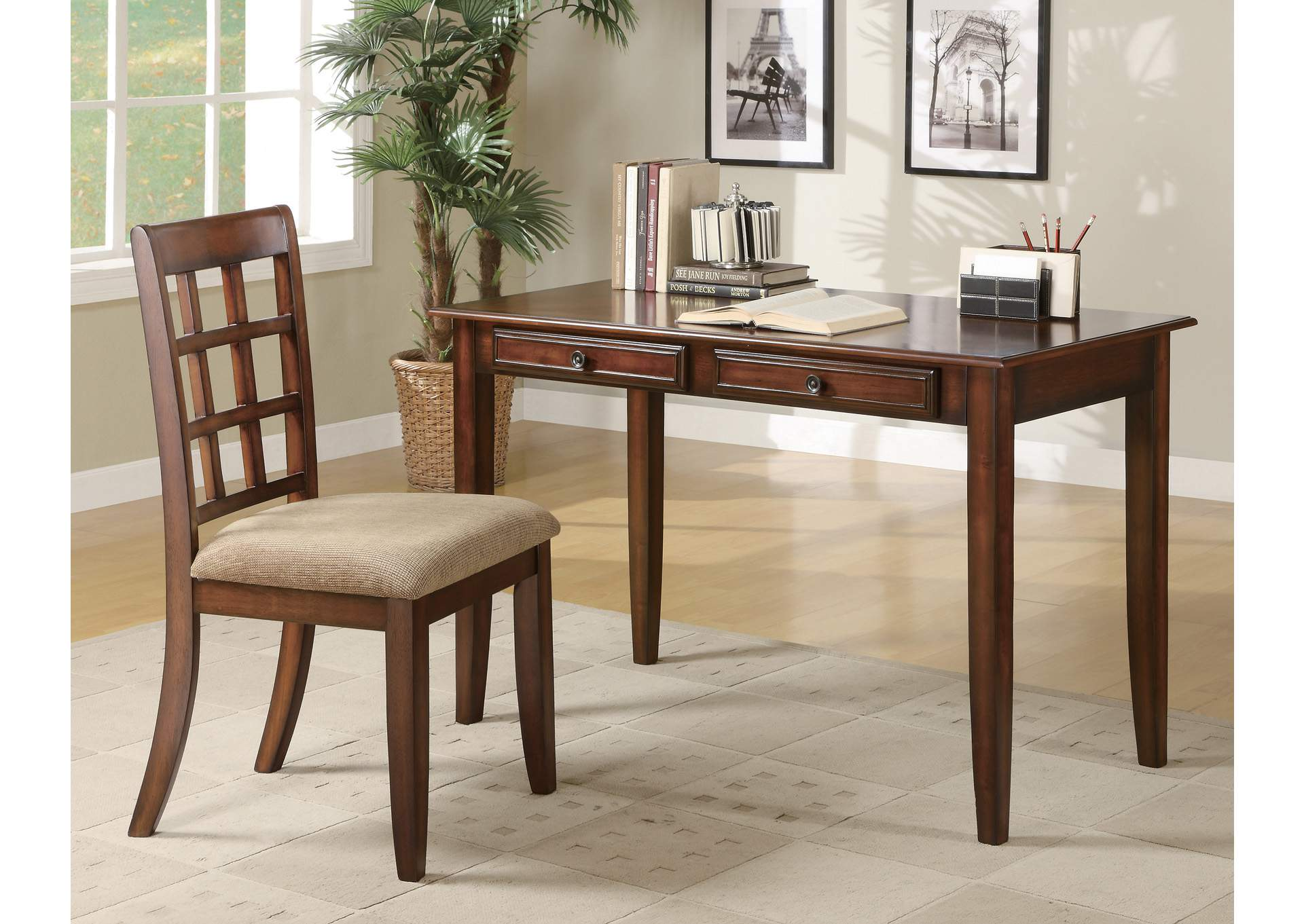 Chestnut Desk Set,Coaster Furniture