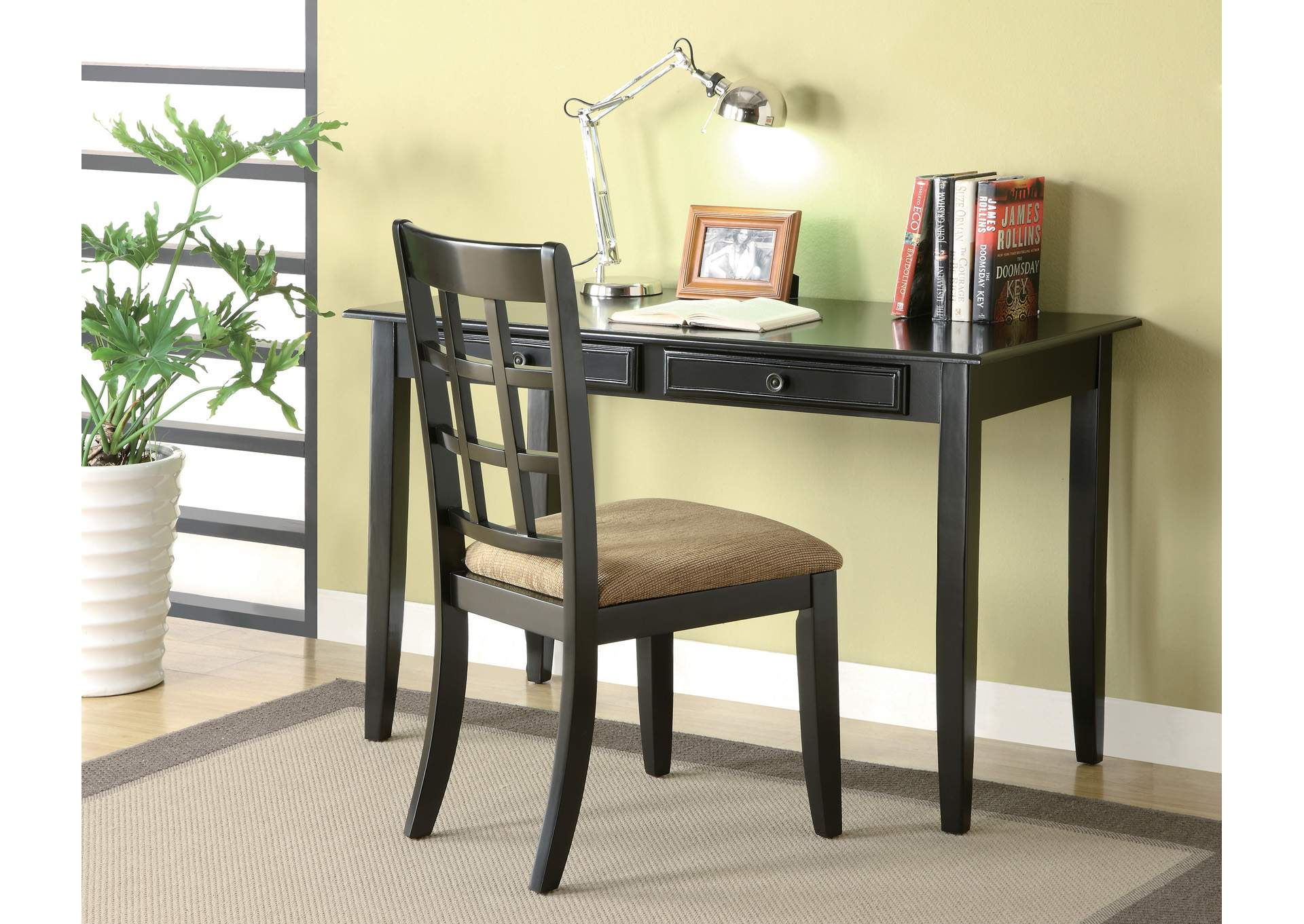 Black Desk Set,Coaster Furniture