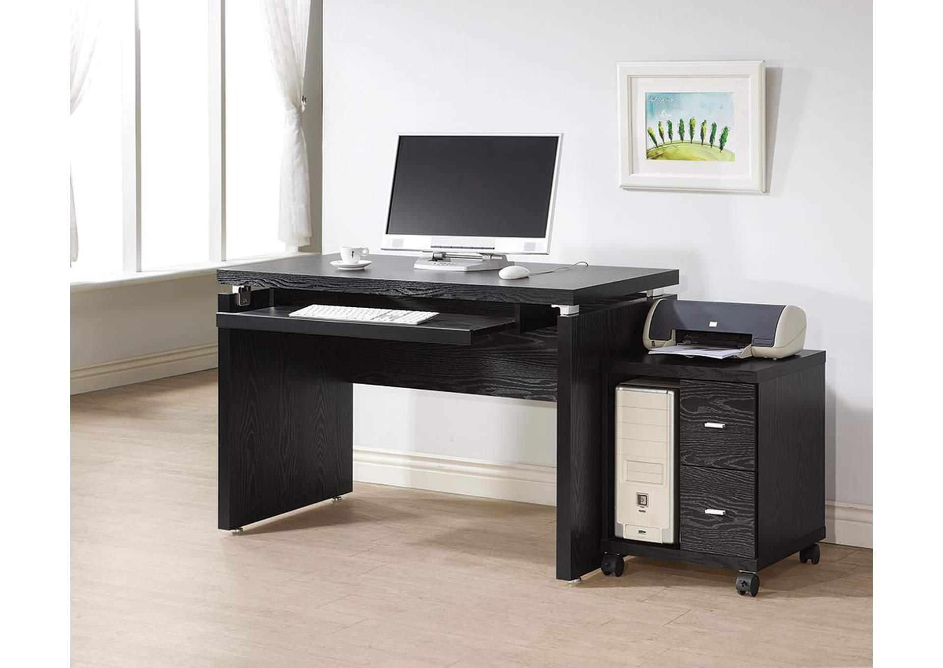 The Downing Street Executive Curio Desk: Oak Furniture Liquidators Computer Desk