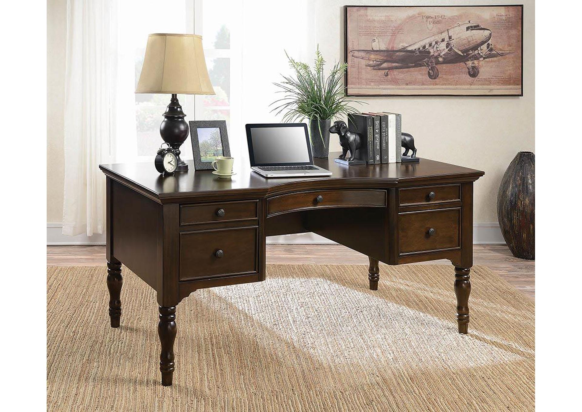 Dark Cherry Computer Desk Braxton Trestle Desk