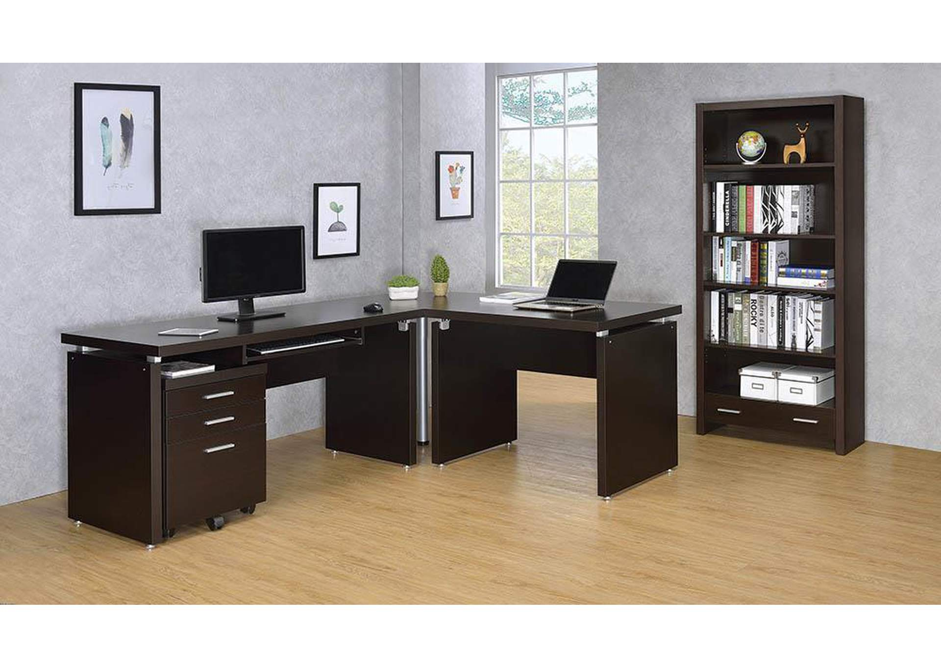 Skylar Cappuccino Three-Drawer File Cabinet,Coaster Furniture