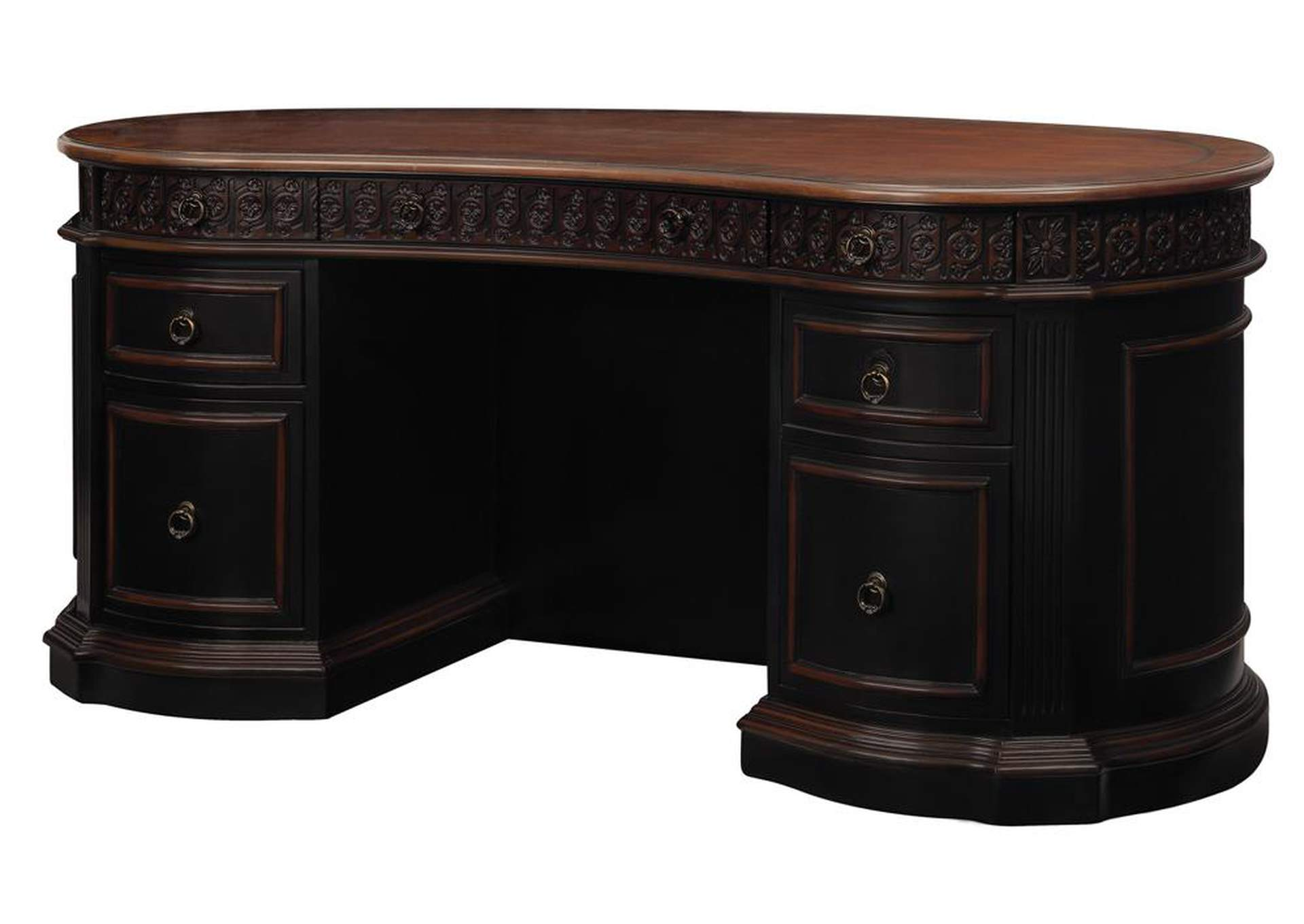 Two Tone Oval Desk,Coaster Furniture