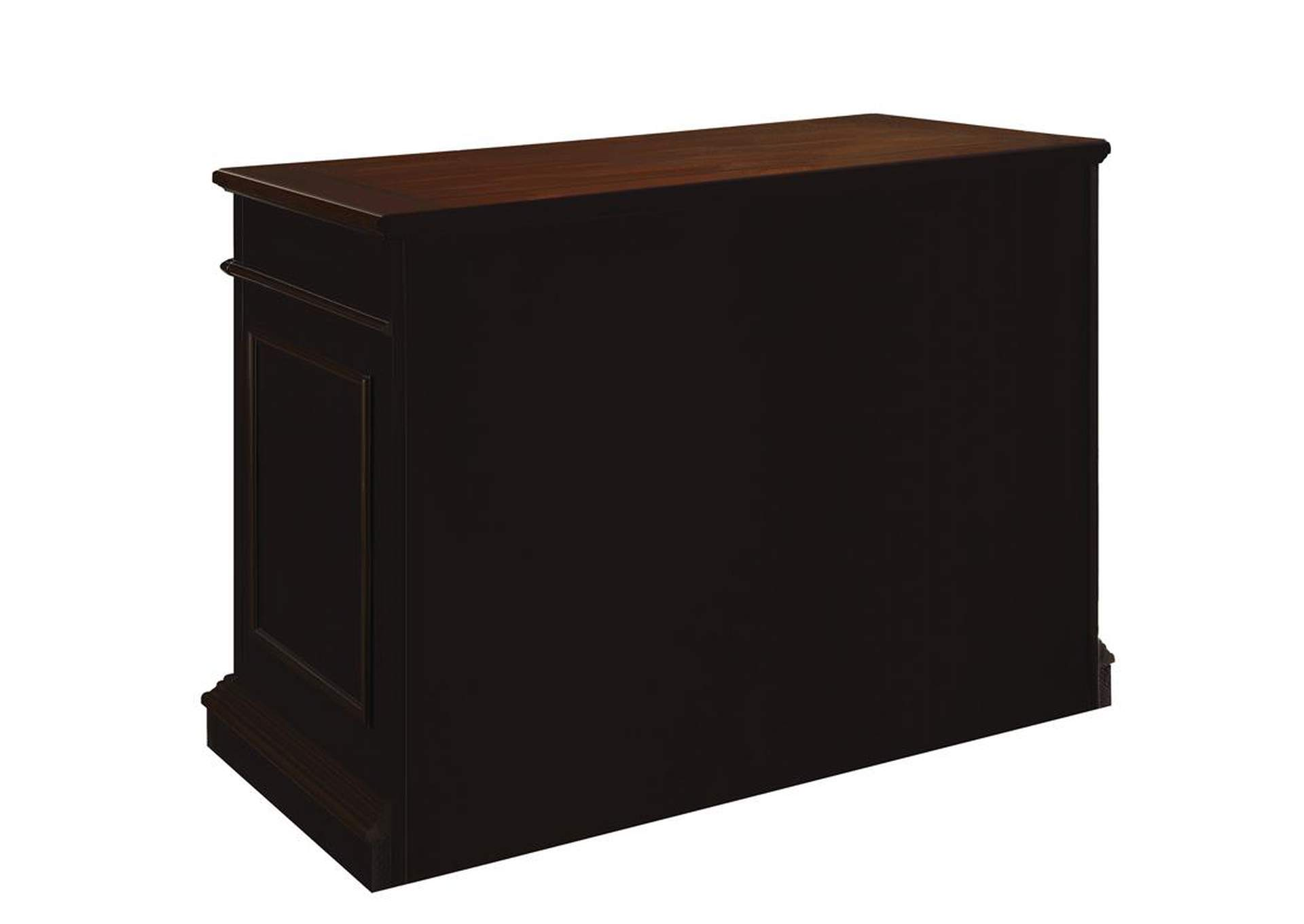 Rowan Black/Chesnut File Cabinet,Coaster Furniture