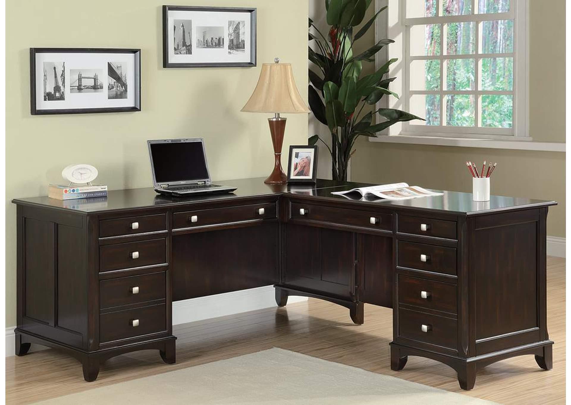 Charmant Cappuccino Office Desk,Coaster Furniture