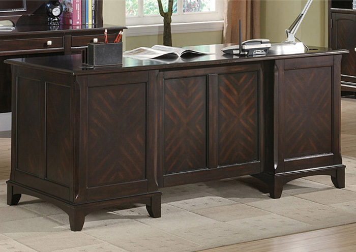 Garson Walnut Desk,Coaster Furniture