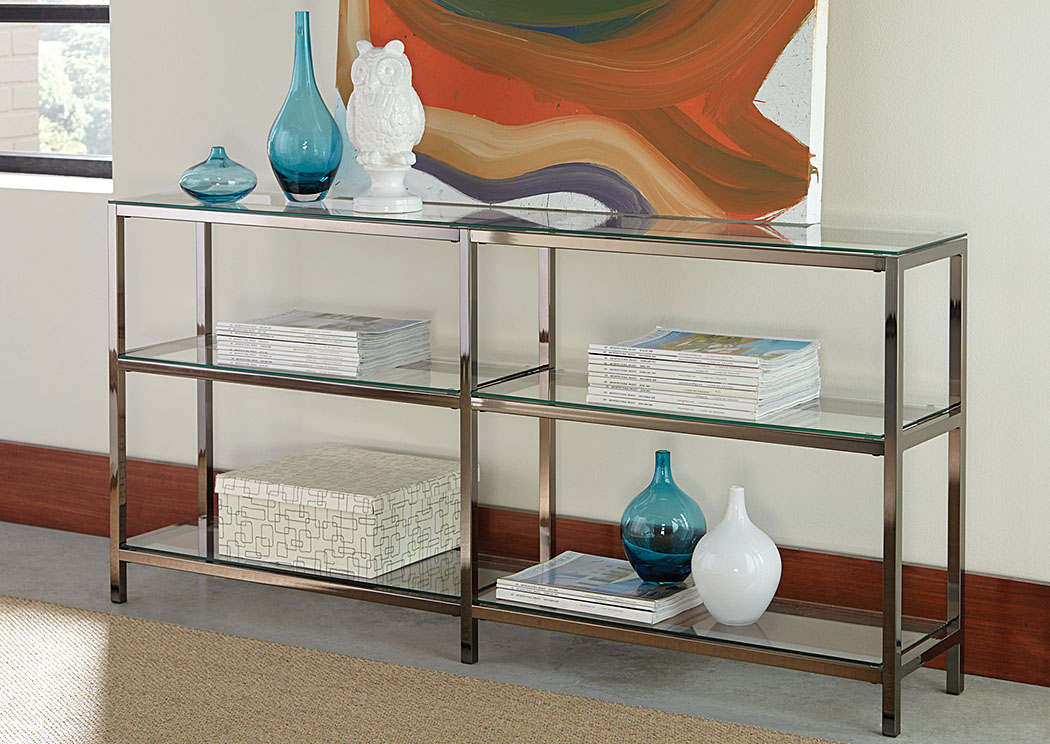 Black Nickel Bookcase,Coaster Furniture