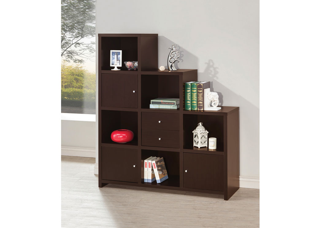 Cappuccino Bookshelf,Coaster Furniture